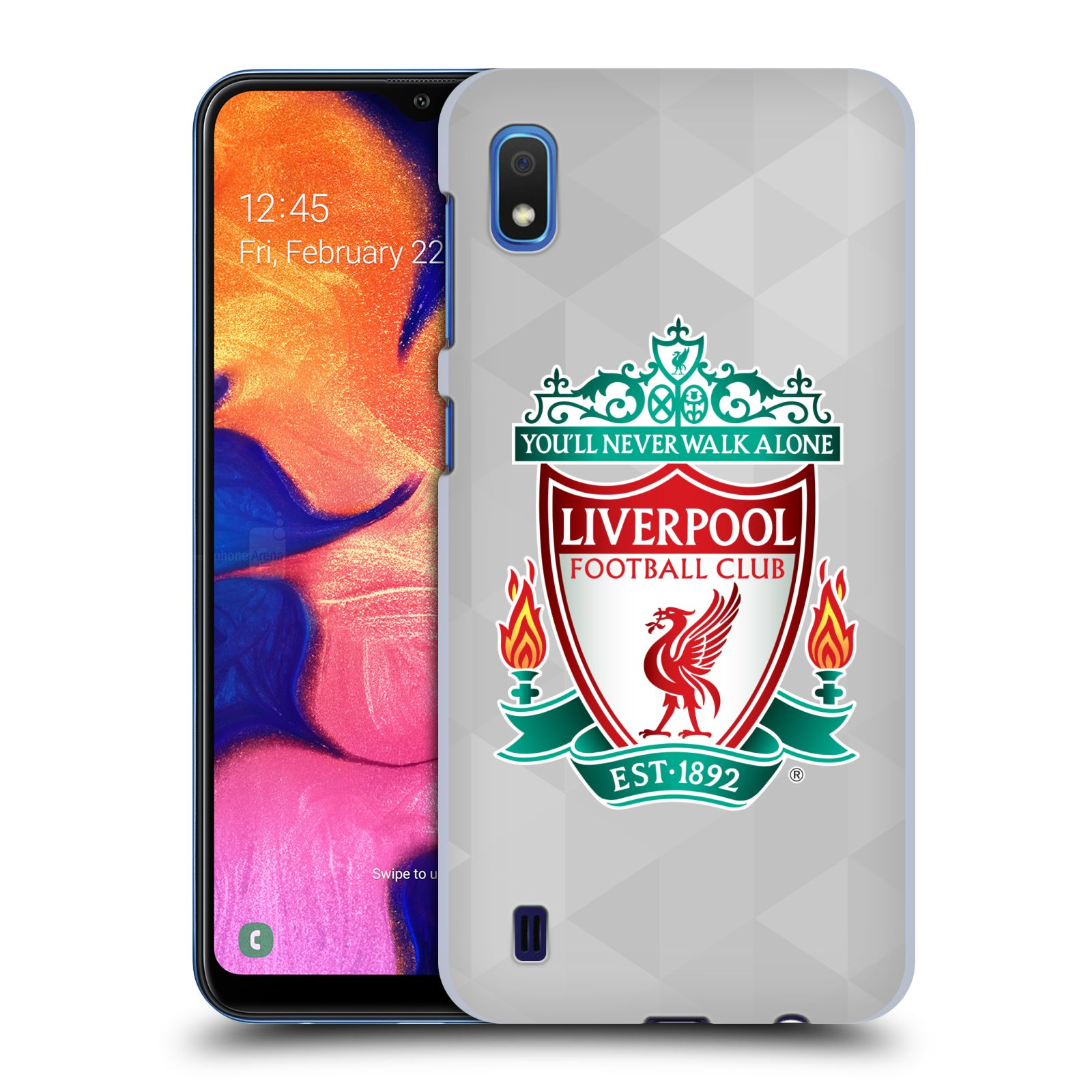 Plastové pouzdro na mobil Samsung Galaxy A10 - Head Case - ZNAK LIVERPOOL FC OFFICIAL GEOMETRIC WHITE
