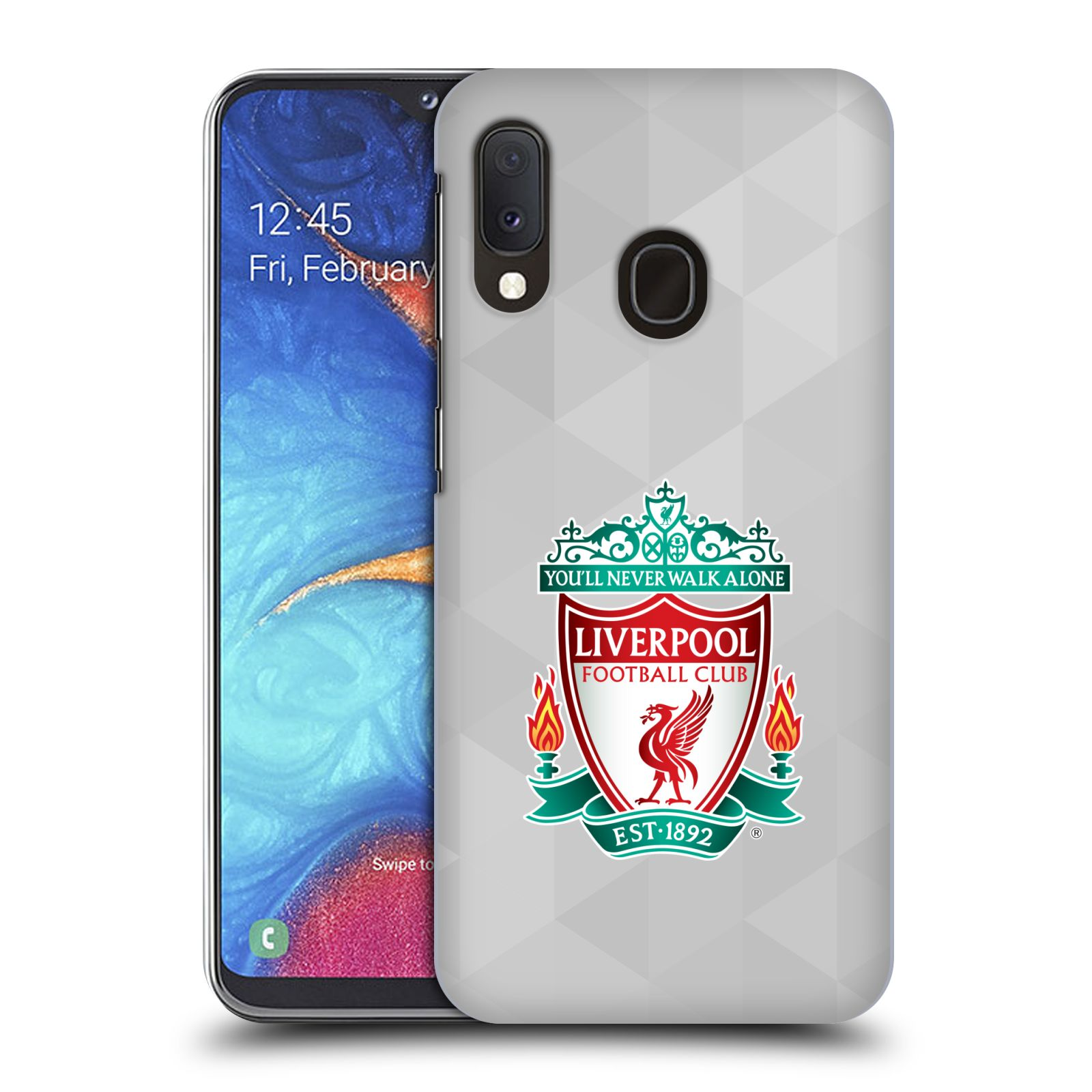 Plastové pouzdro na mobil Samsung Galaxy A20e - Head Case - ZNAK LIVERPOOL FC OFFICIAL GEOMETRIC WHITE