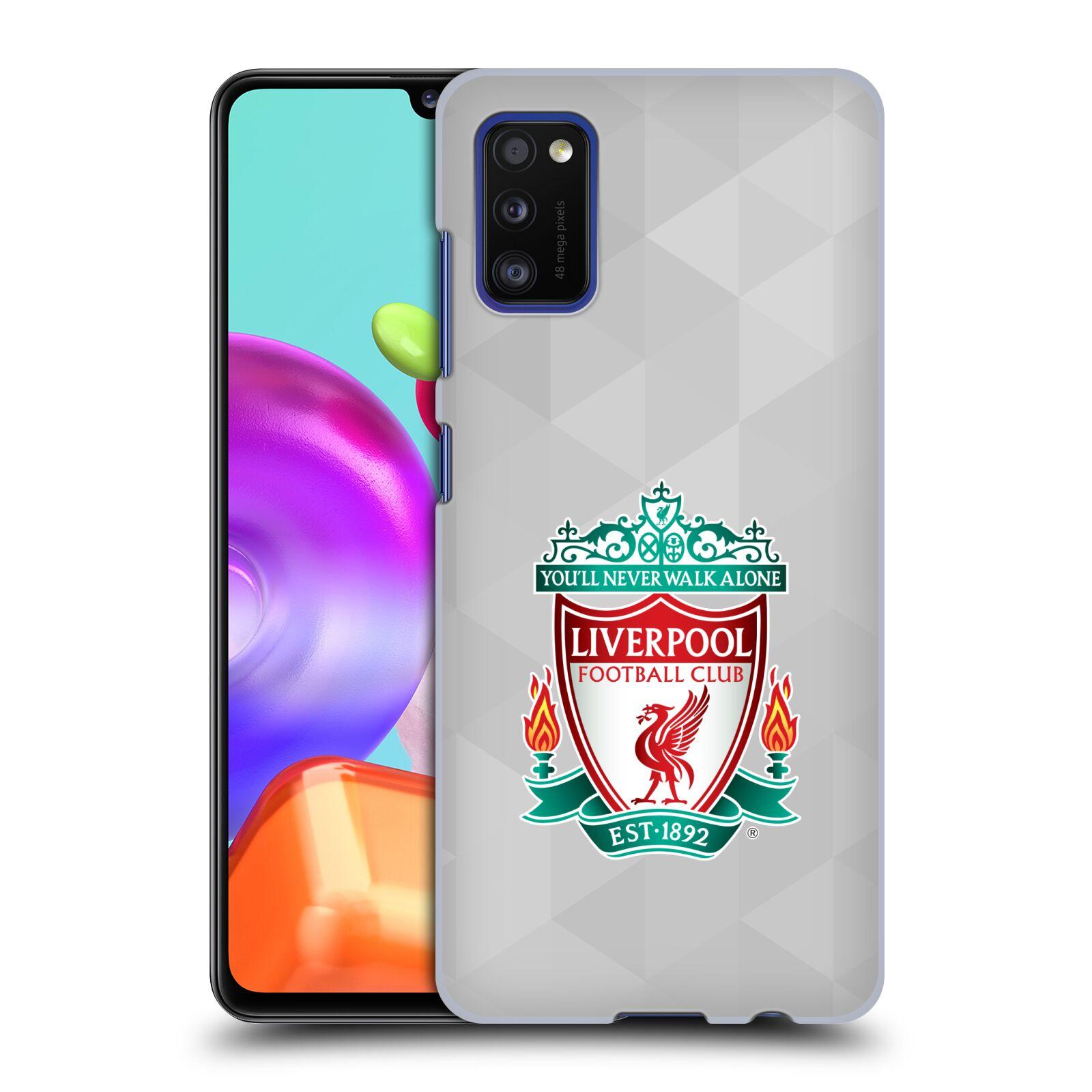 Plastové pouzdro na mobil Samsung Galaxy A41 - Head Case - ZNAK LIVERPOOL FC OFFICIAL GEOMETRIC WHITE