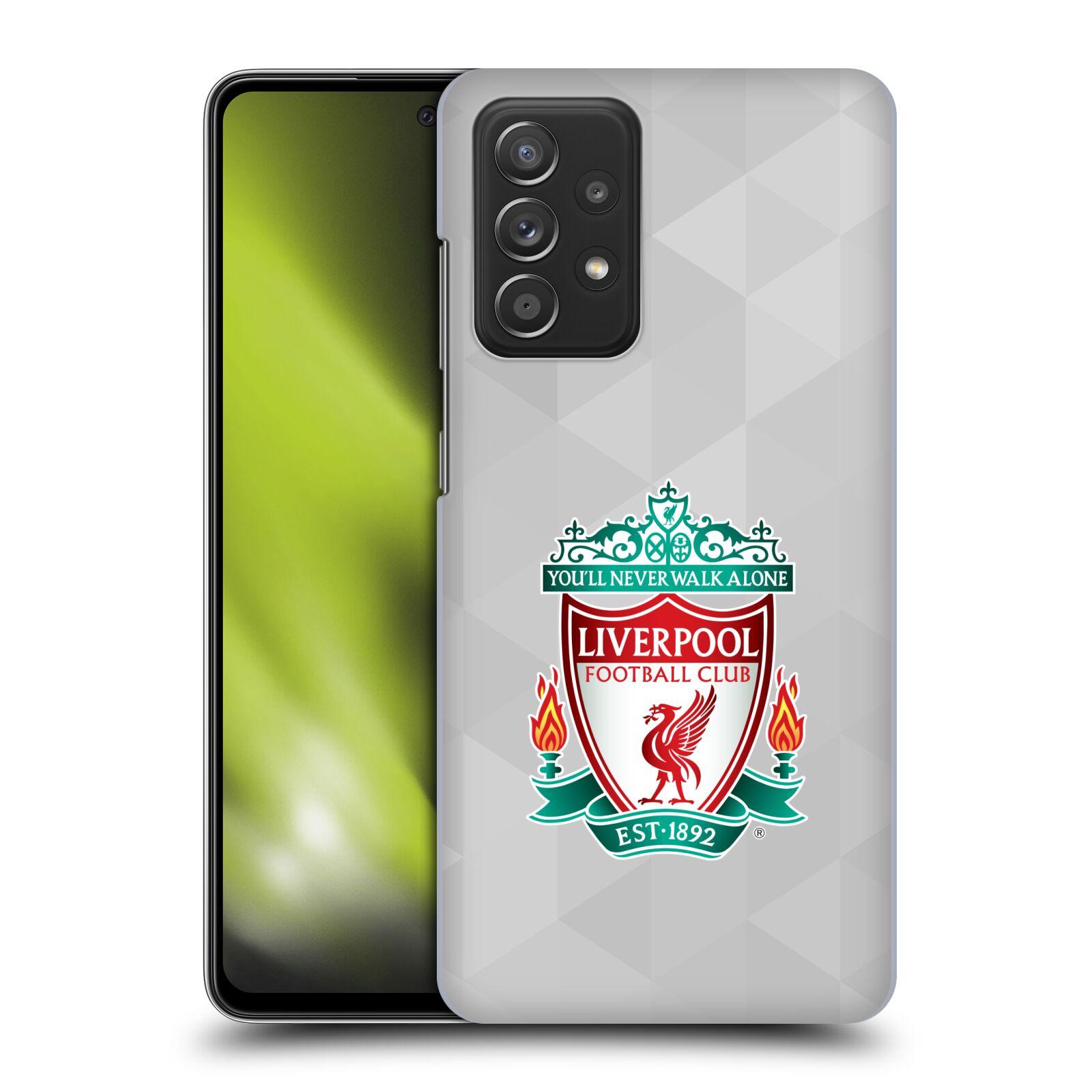 Plastové pouzdro na mobil Samsung Galaxy A52 / A52 5G / A52s 5G - Head Case - ZNAK LIVERPOOL FC OFFICIAL GEOMETRIC WHITE