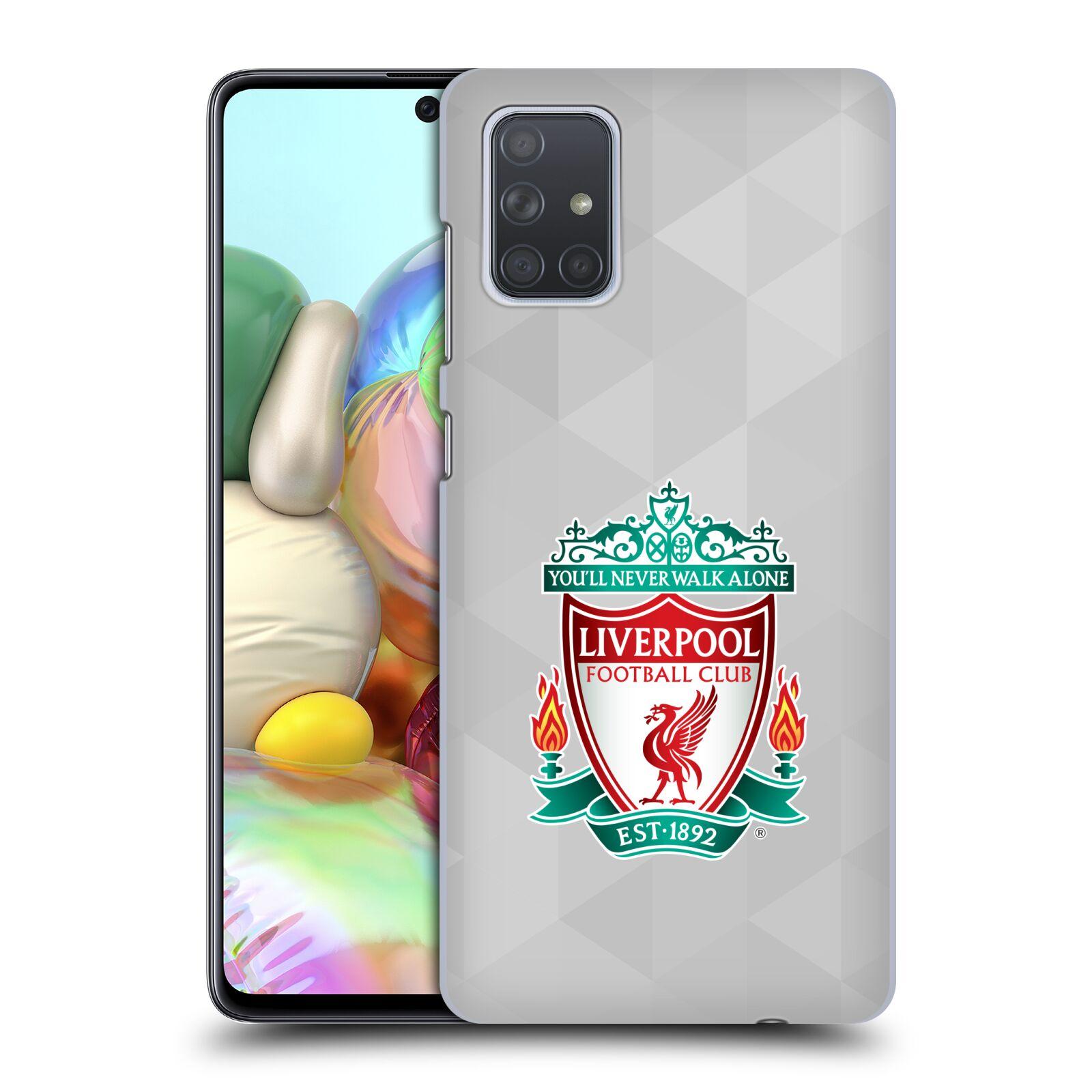 Plastové pouzdro na mobil Samsung Galaxy A71 - Head Case - ZNAK LIVERPOOL FC OFFICIAL GEOMETRIC WHITE