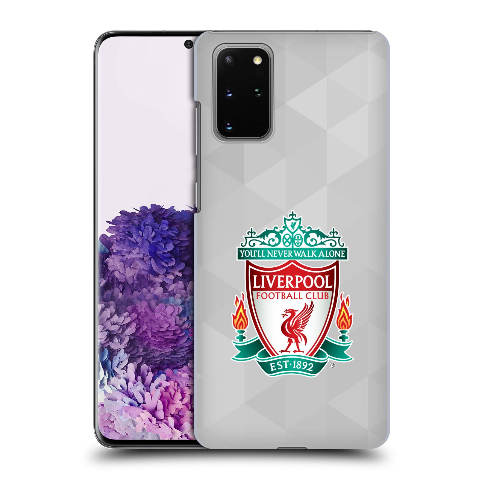 Plastové pouzdro na mobil Samsung Galaxy S20 Plus - Head Case - ZNAK LIVERPOOL FC OFFICIAL GEOMETRIC WHITE