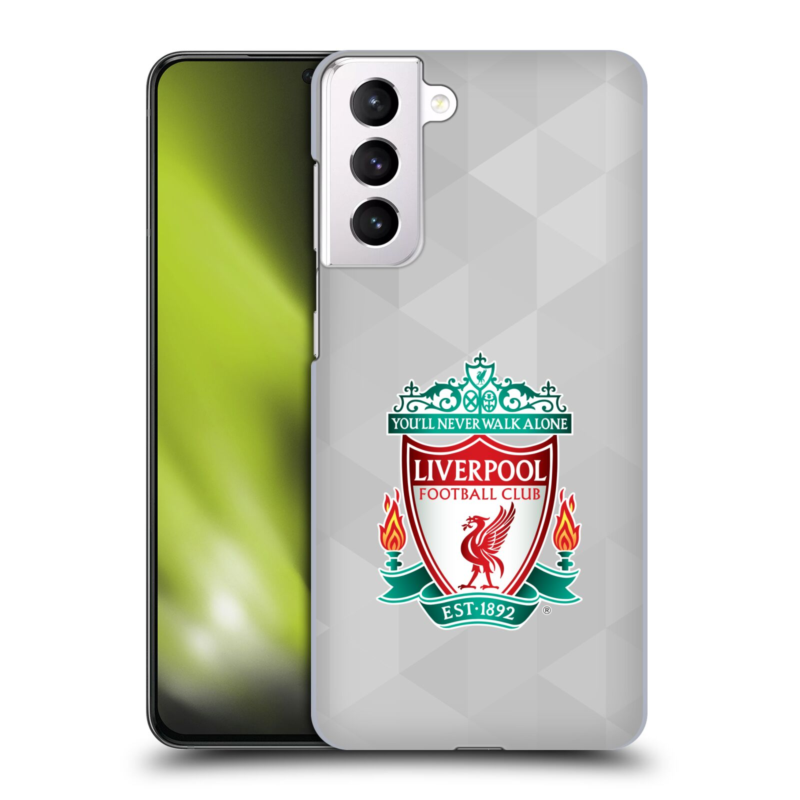 Plastové pouzdro na mobil Samsung Galaxy S21 Plus 5G - Head Case - ZNAK LIVERPOOL FC OFFICIAL GEOMETRIC WHITE