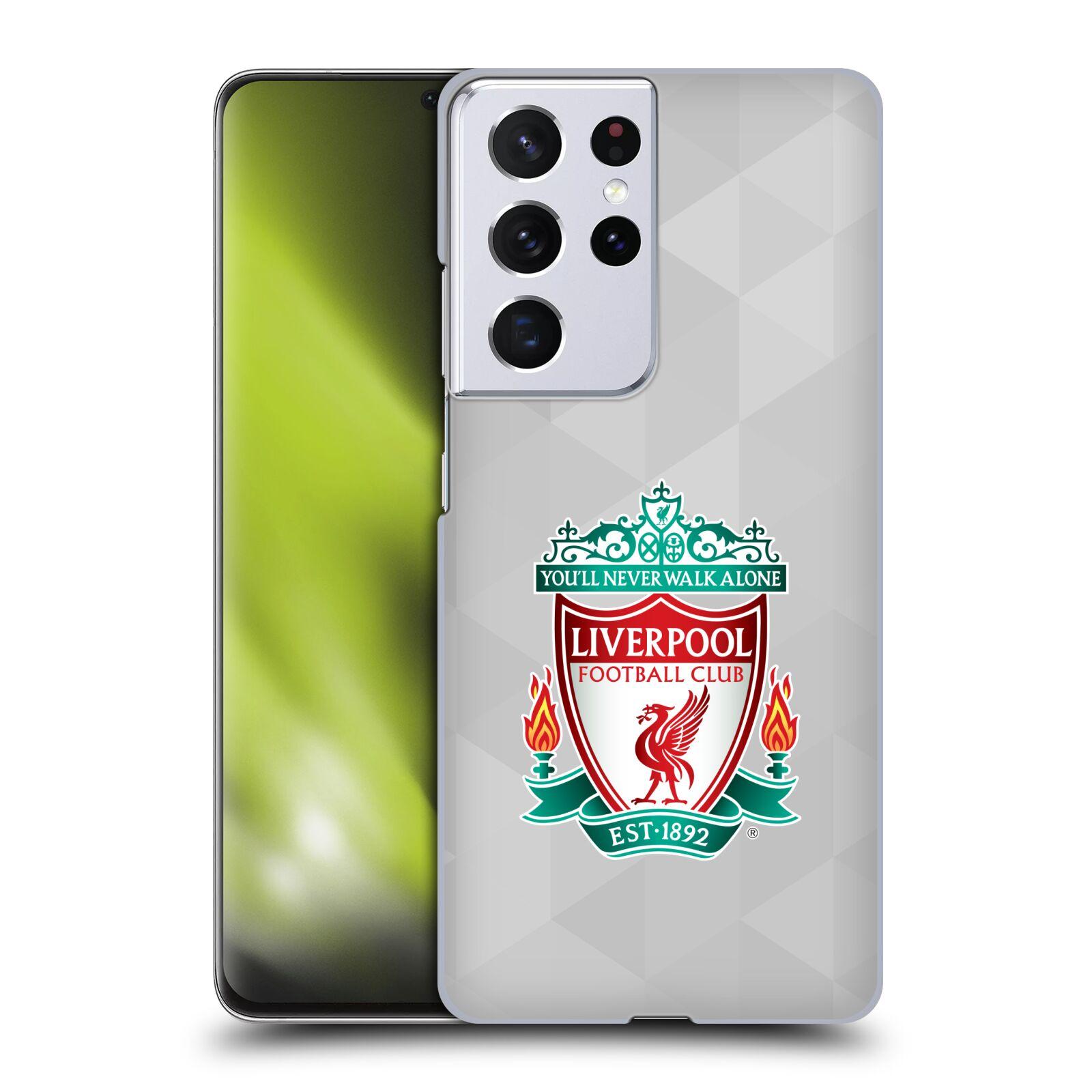 Plastové pouzdro na mobil Samsung Galaxy S21 Ultra 5G - Head Case - ZNAK LIVERPOOL FC OFFICIAL GEOMETRIC WHITE