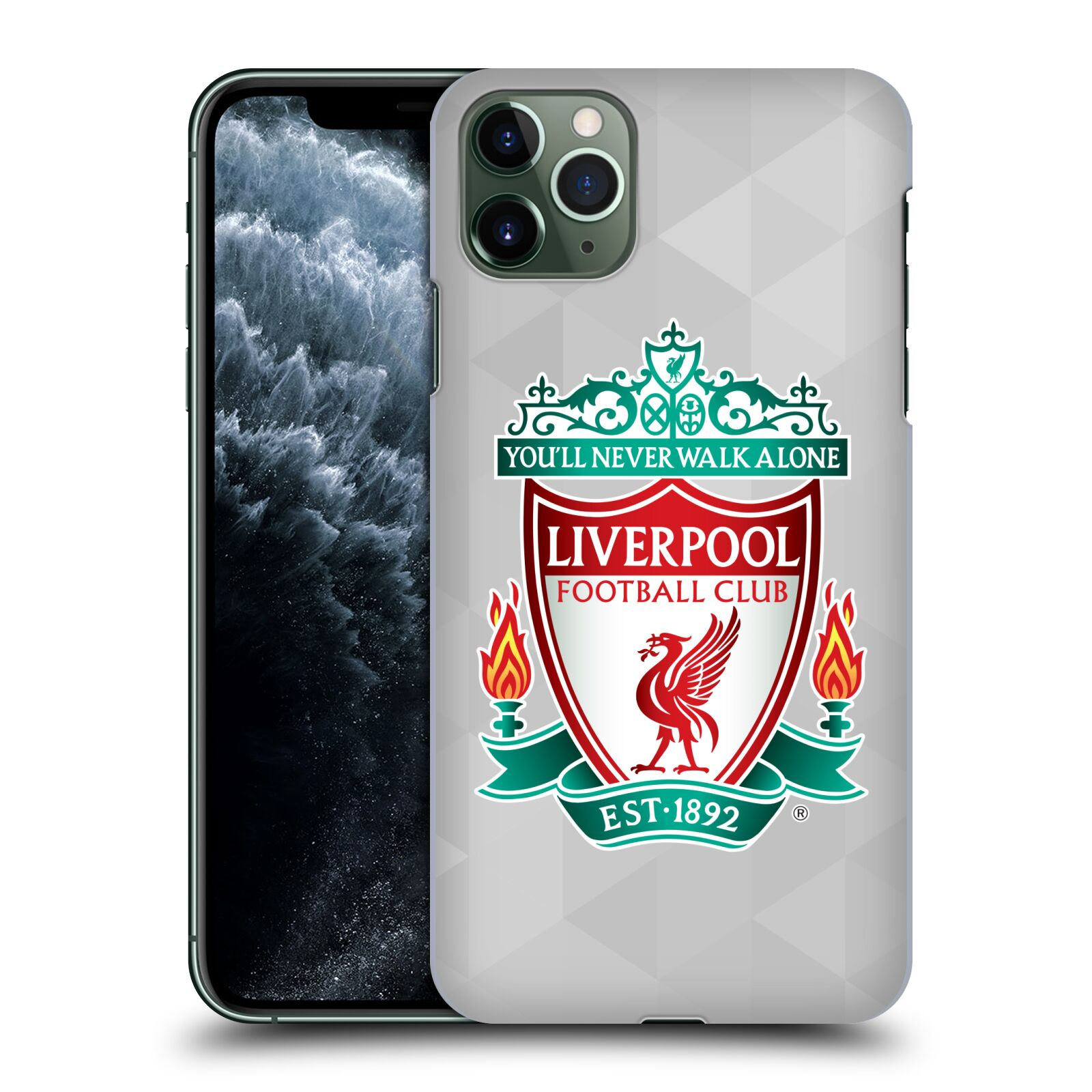 Plastové pouzdro na mobil Apple iPhone 11 Pro Max - Head Case - ZNAK LIVERPOOL FC OFFICIAL GEOMETRIC WHITE