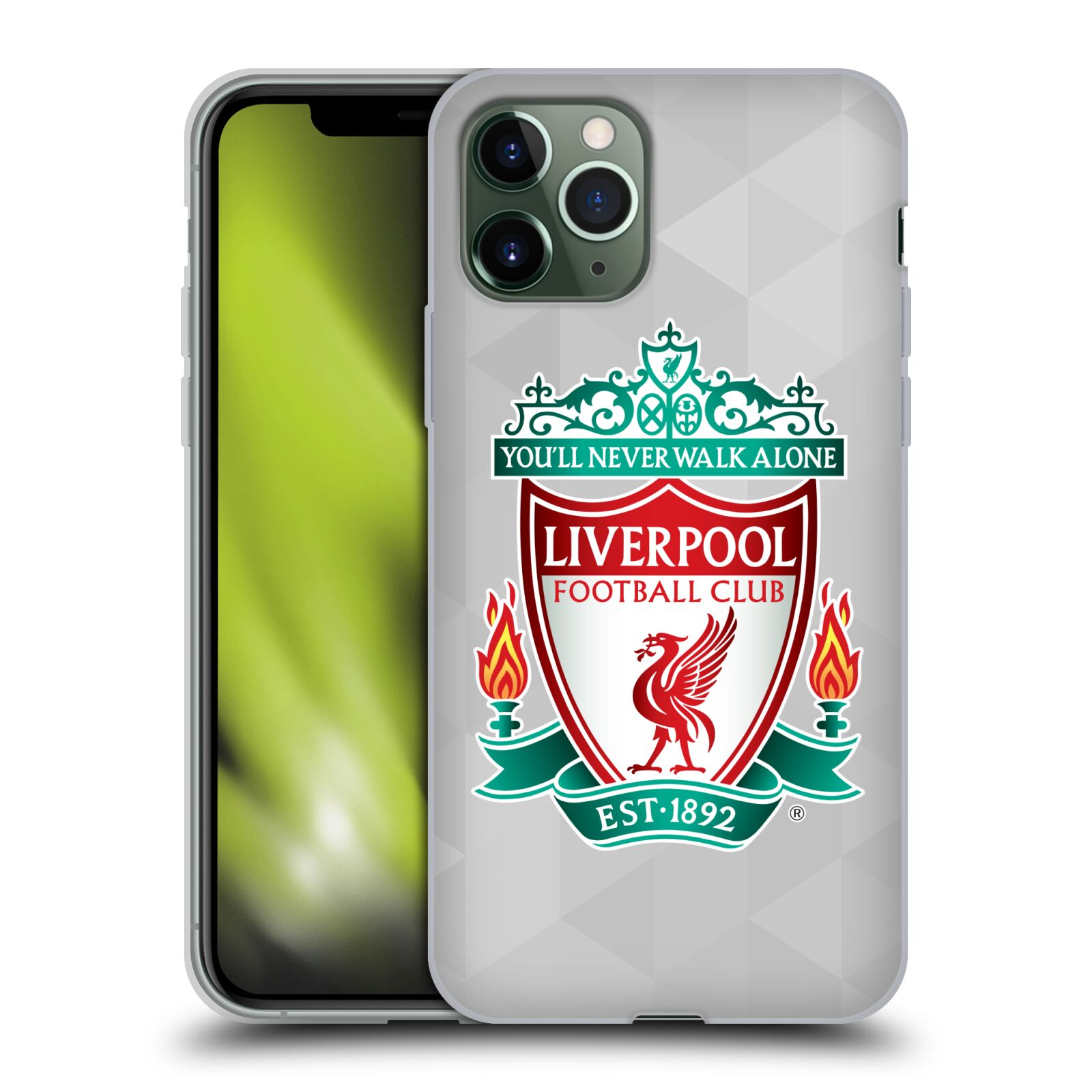 Silikonové pouzdro na mobil Apple iPhone 11 Pro - Head Case - ZNAK LIVERPOOL FC OFFICIAL GEOMETRIC WHITE