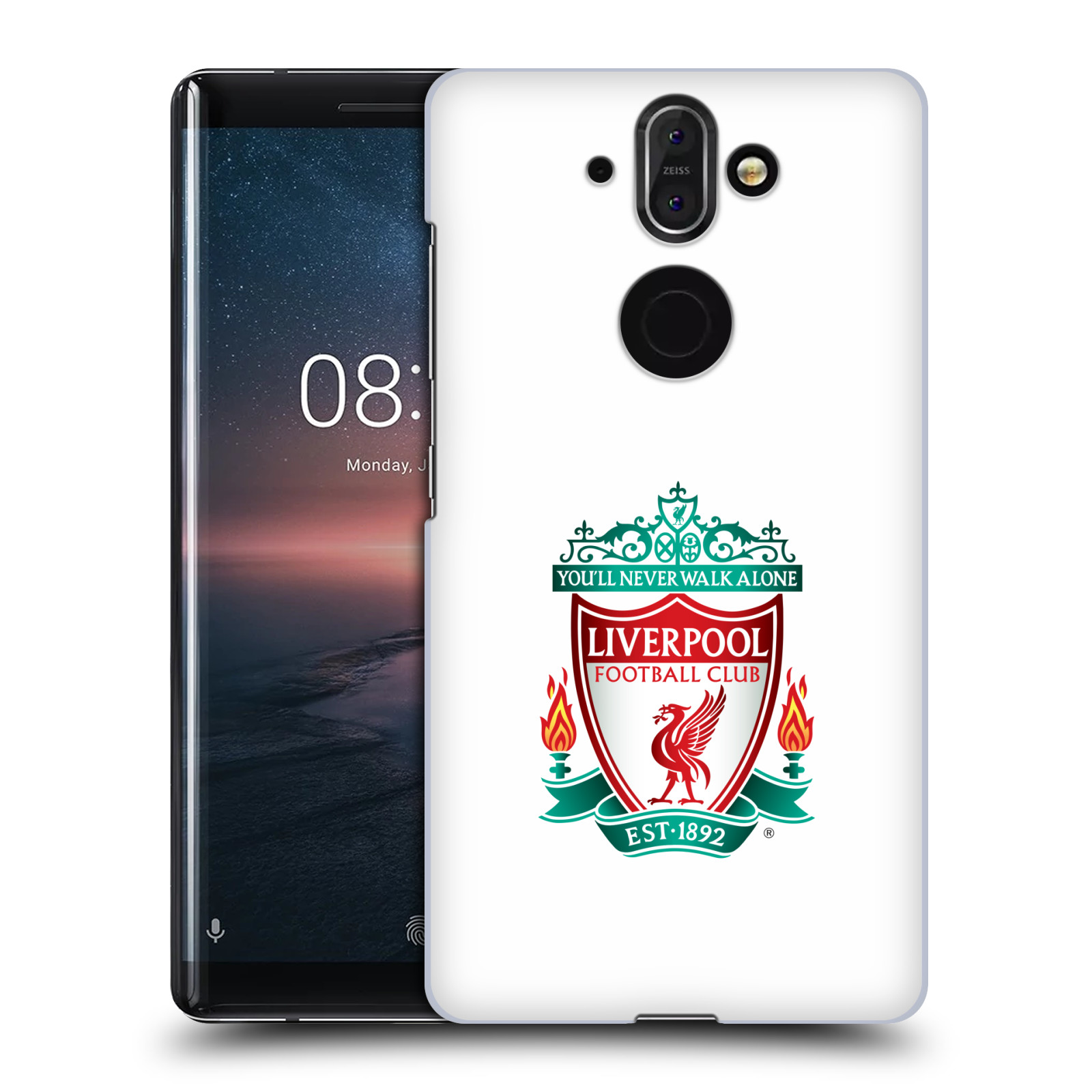 Plastové pouzdro na mobil Nokia 8 Sirocco - Head Case - ZNAK LIVERPOOL FC OFFICIAL WHITE
