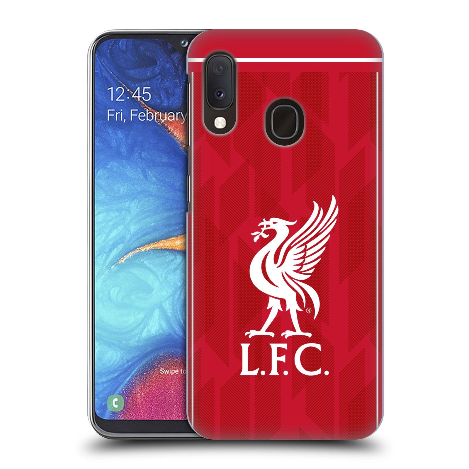 Plastové pouzdro na mobil Samsung Galaxy A20e - Head Case - Liverpool FC - L.F.C. Home kit