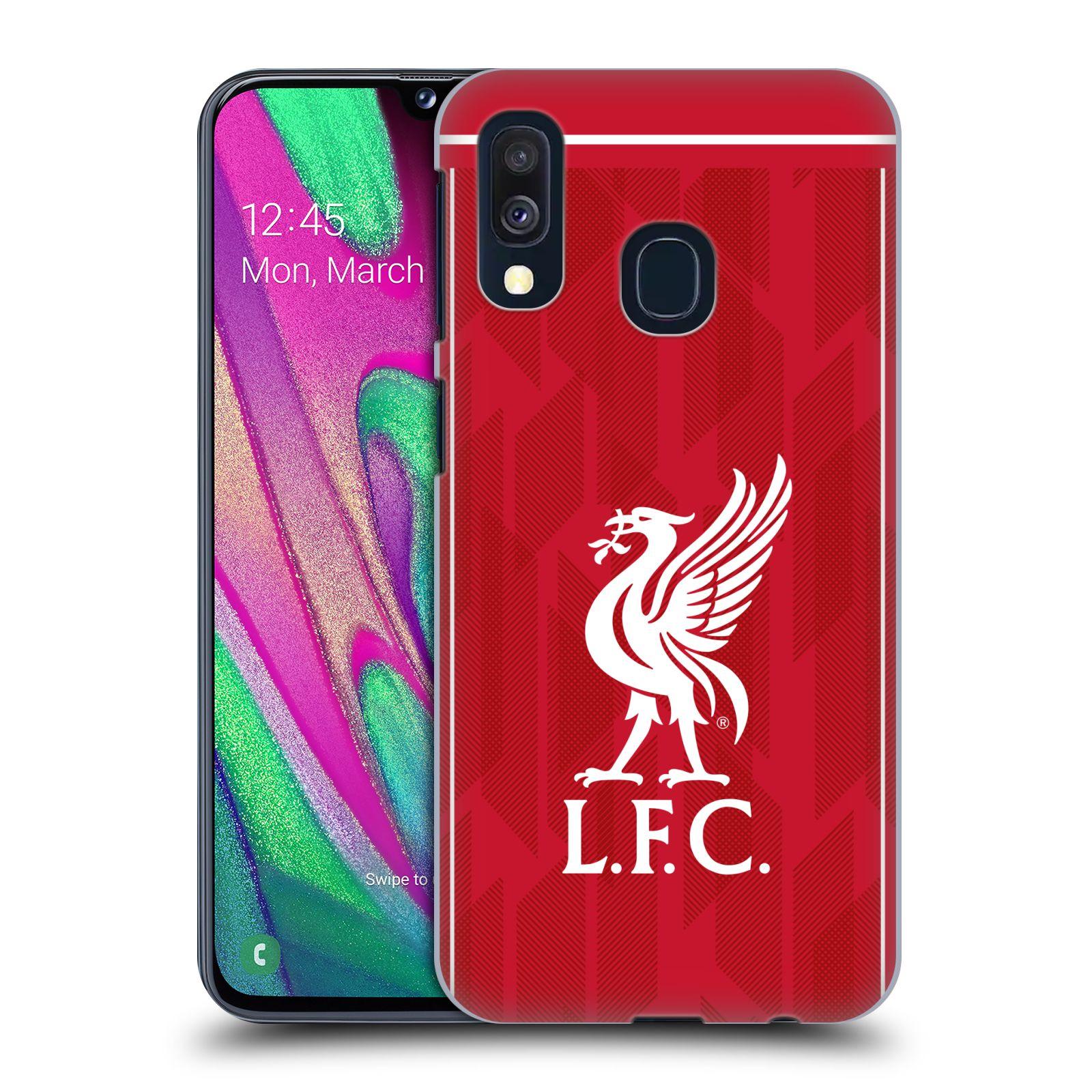 Plastové pouzdro na mobil Samsung Galaxy A40 - Head Case - Liverpool FC - L.F.C. Home kit