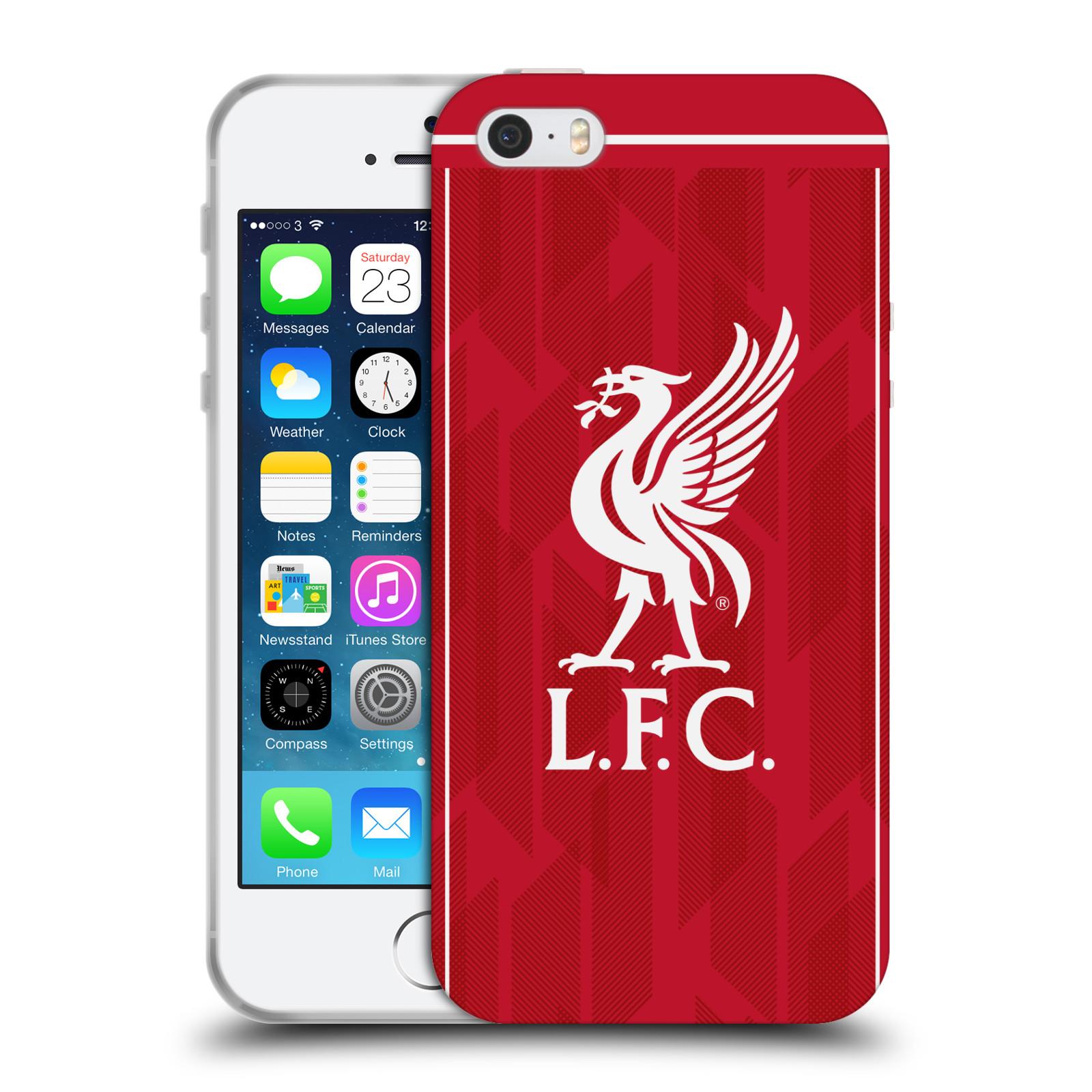 Silikonové pouzdro na mobil Apple iPhone 5, 5S, SE - Head Case - Liverpool FC - L.F.C. Home kit
