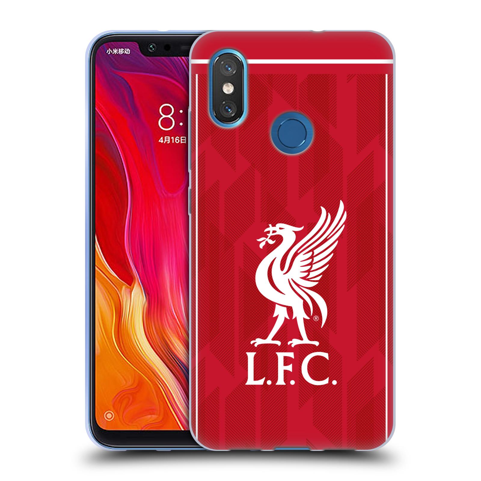 Silikonové pouzdro na mobil Xiaomi Mi8 - Head Case - Liverpool FC - L.F.C. Home kit
