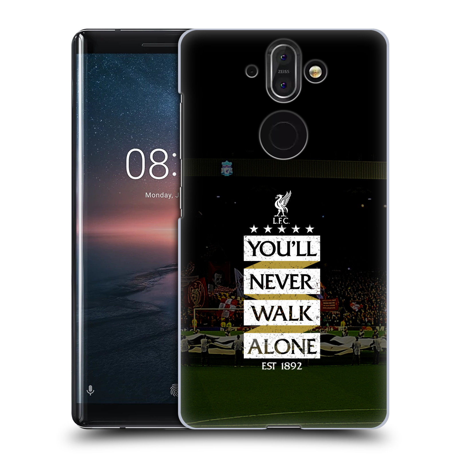 Plastové pouzdro na mobil Nokia 8 Sirocco - Head Case - LFC You'll Never Walk Alone