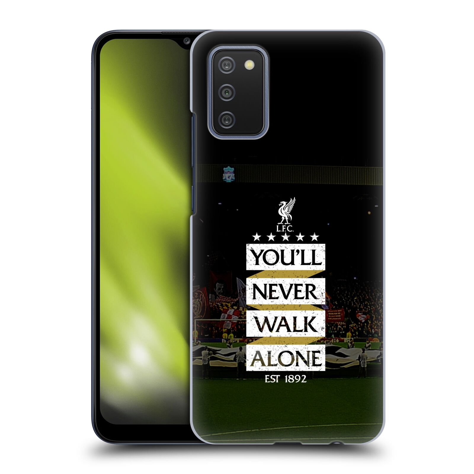 Plastové pouzdro na mobil Samsung Galaxy A02s - Head Case - LFC You'll Never Walk Alone