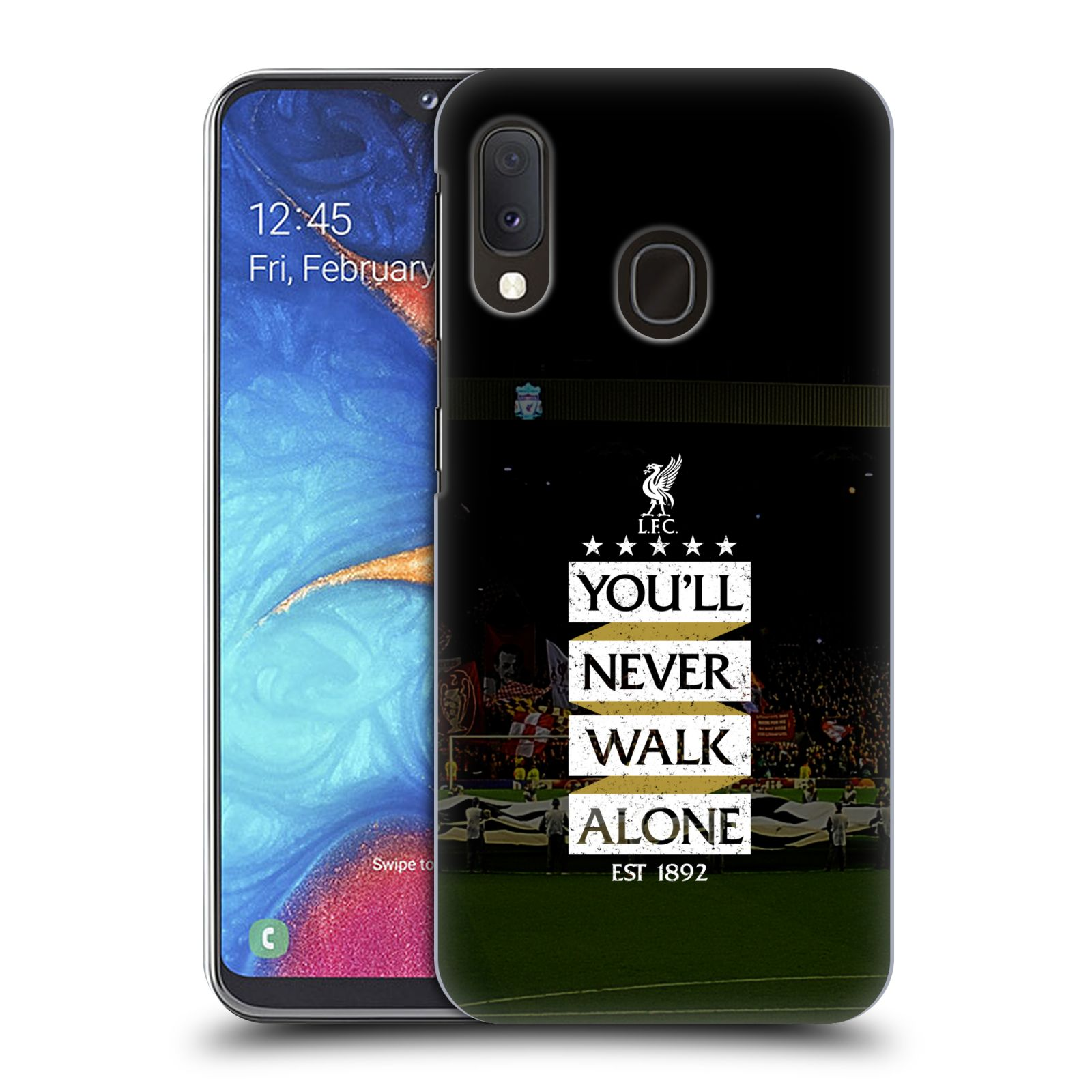 Plastové pouzdro na mobil Samsung Galaxy A20e - Head Case - LFC You'll Never Walk Alone