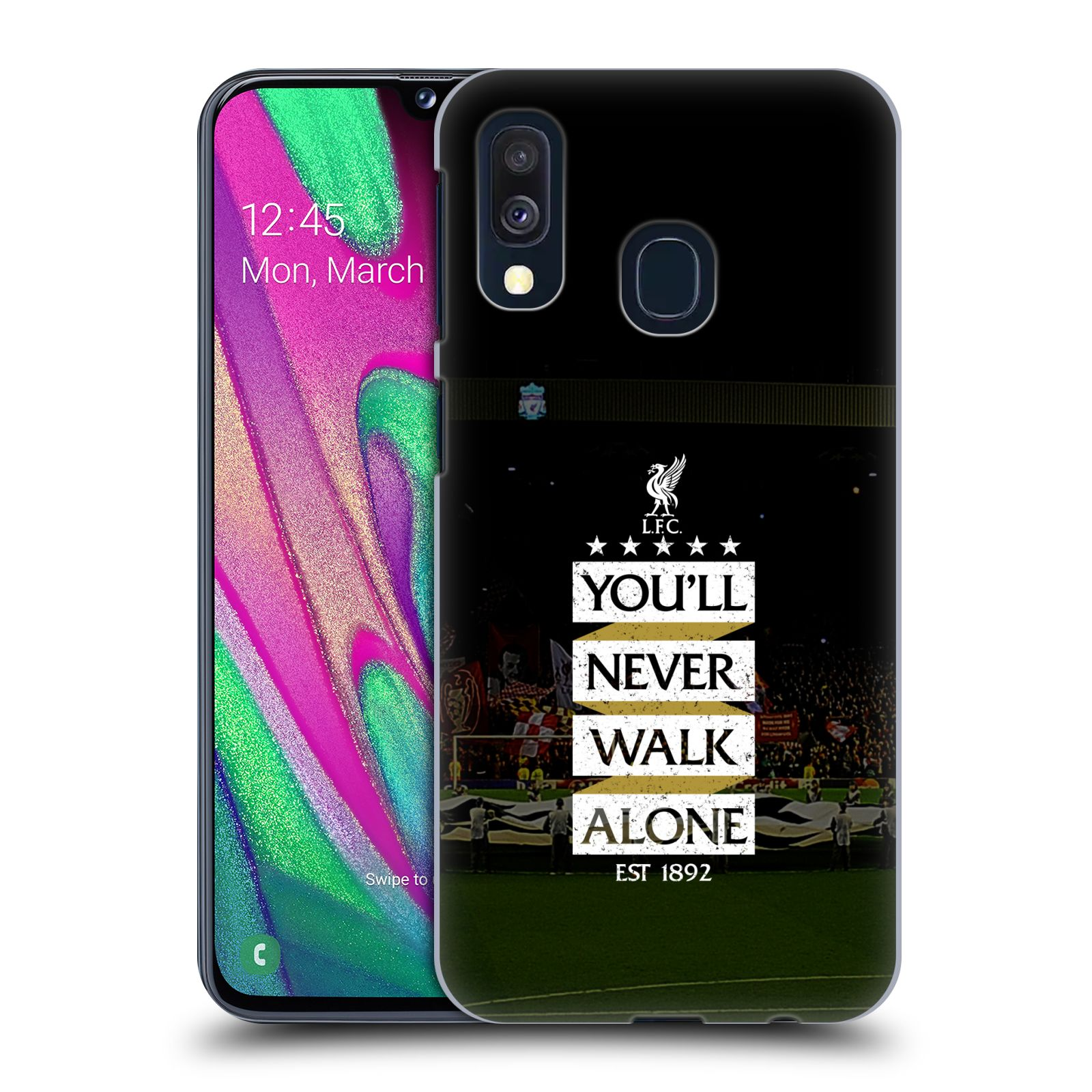 Plastové pouzdro na mobil Samsung Galaxy A40 - Head Case - LFC You'll Never Walk Alone