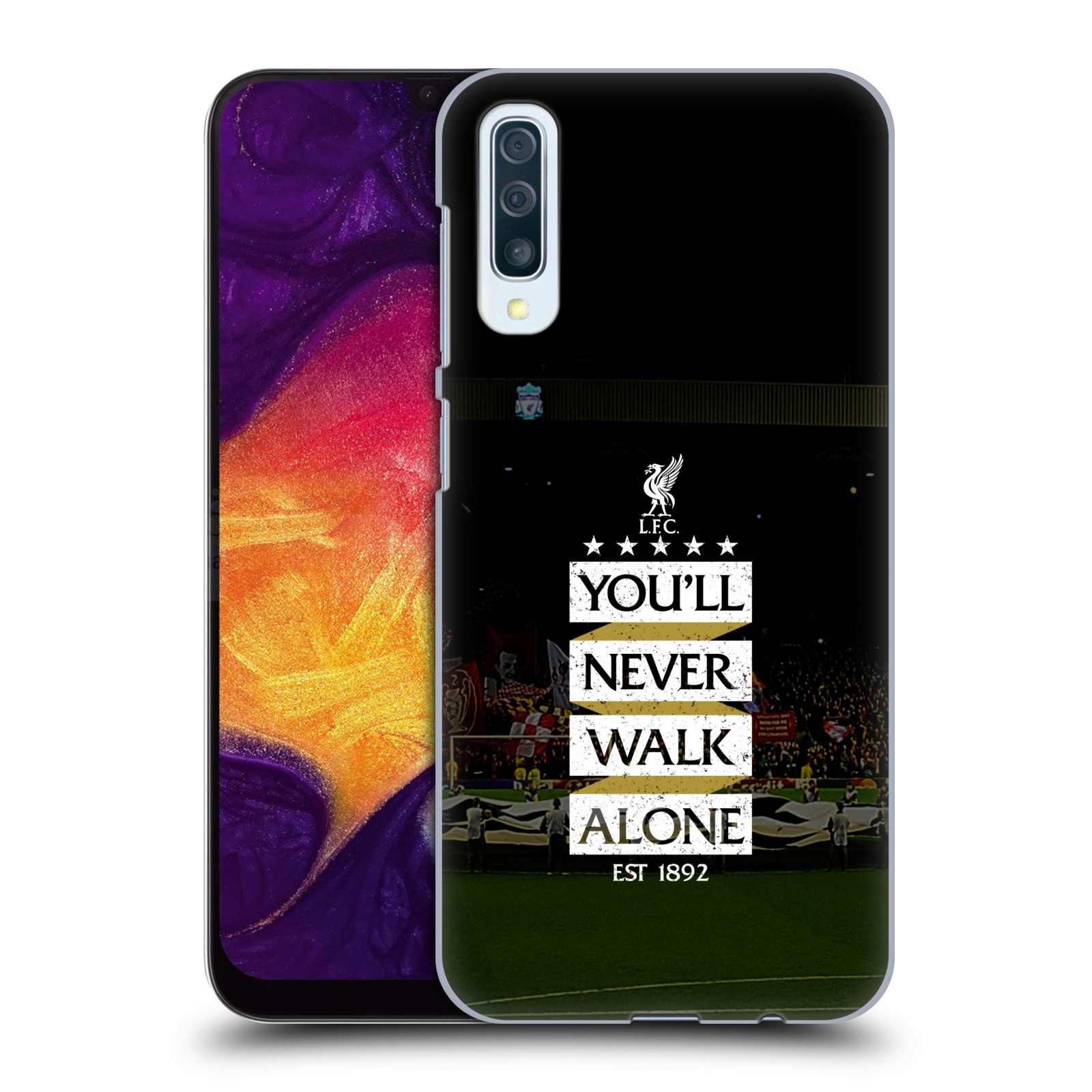 Plastové pouzdro na mobil Samsung Galaxy A50 - Head Case - LFC You'll Never Walk Alone