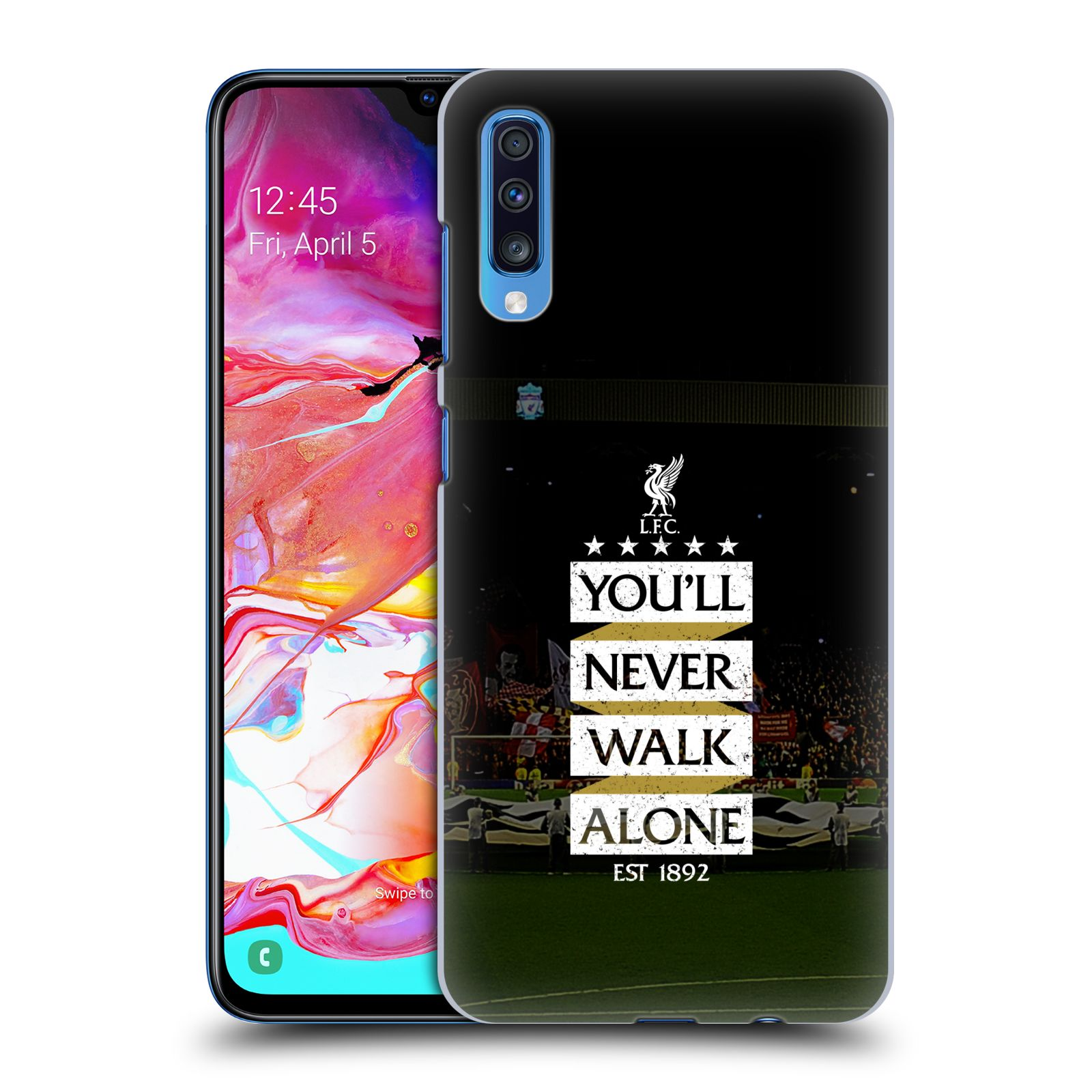 Plastové pouzdro na mobil Samsung Galaxy A70 - Head Case - LFC You'll Never Walk Alone