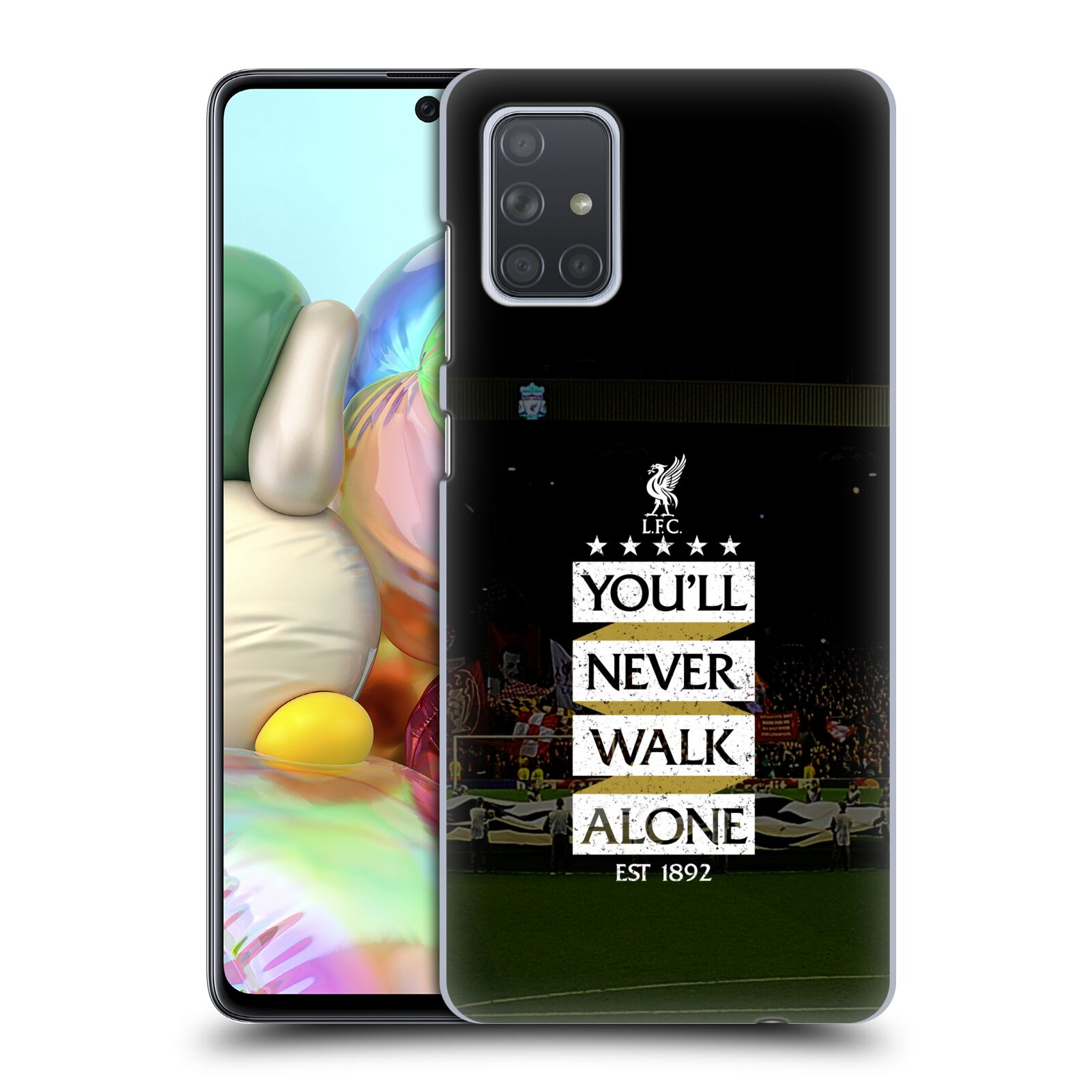 Plastové pouzdro na mobil Samsung Galaxy A71 - Head Case - LFC You'll Never Walk Alone