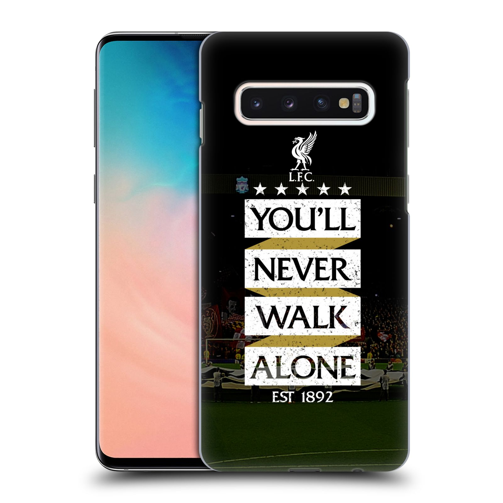 Plastové pouzdro na mobil Samsung Galaxy S10 - Head Case - LFC You'll Never Walk Alone