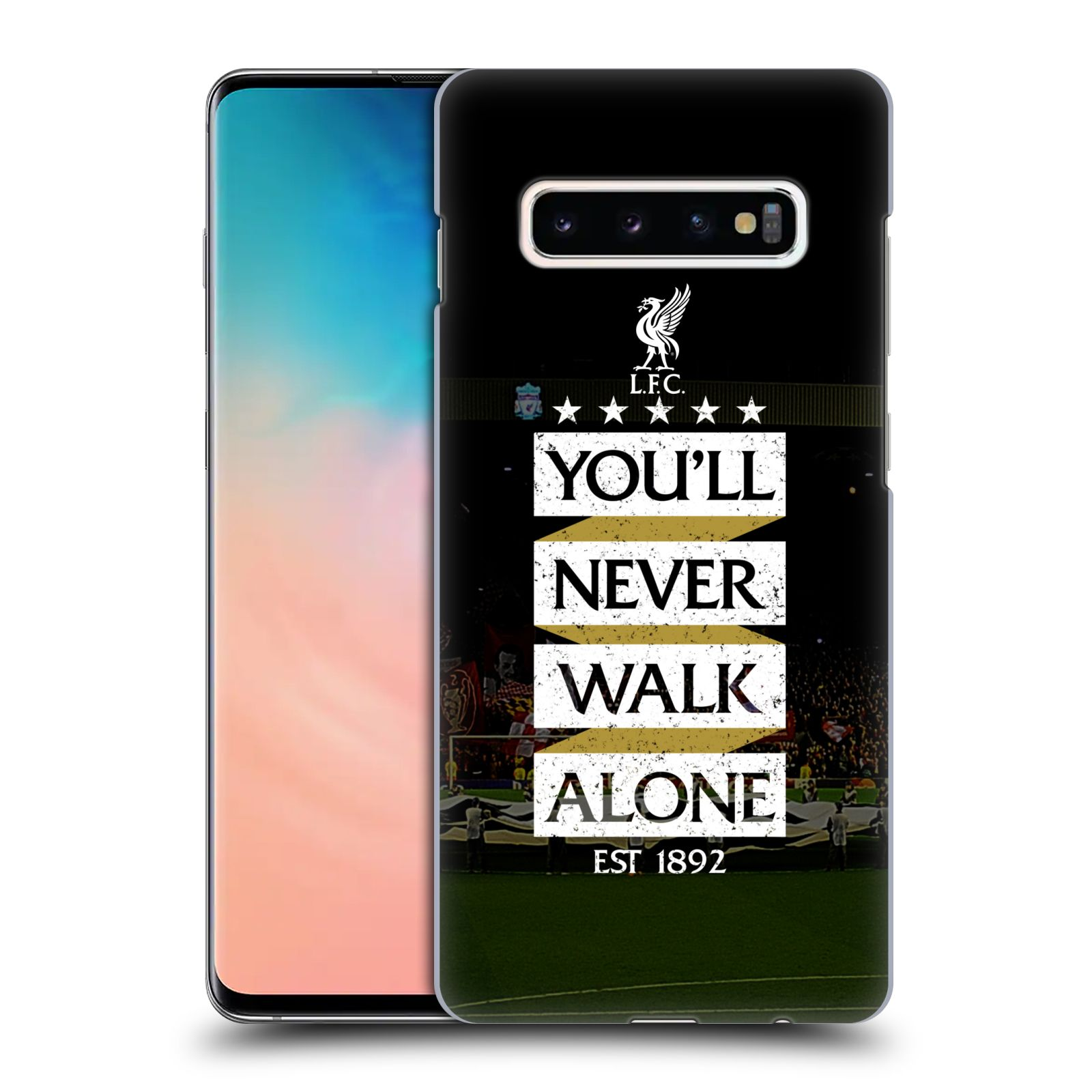Plastové pouzdro na mobil Samsung Galaxy S10 Plus - Head Case - LFC You'll Never Walk Alone