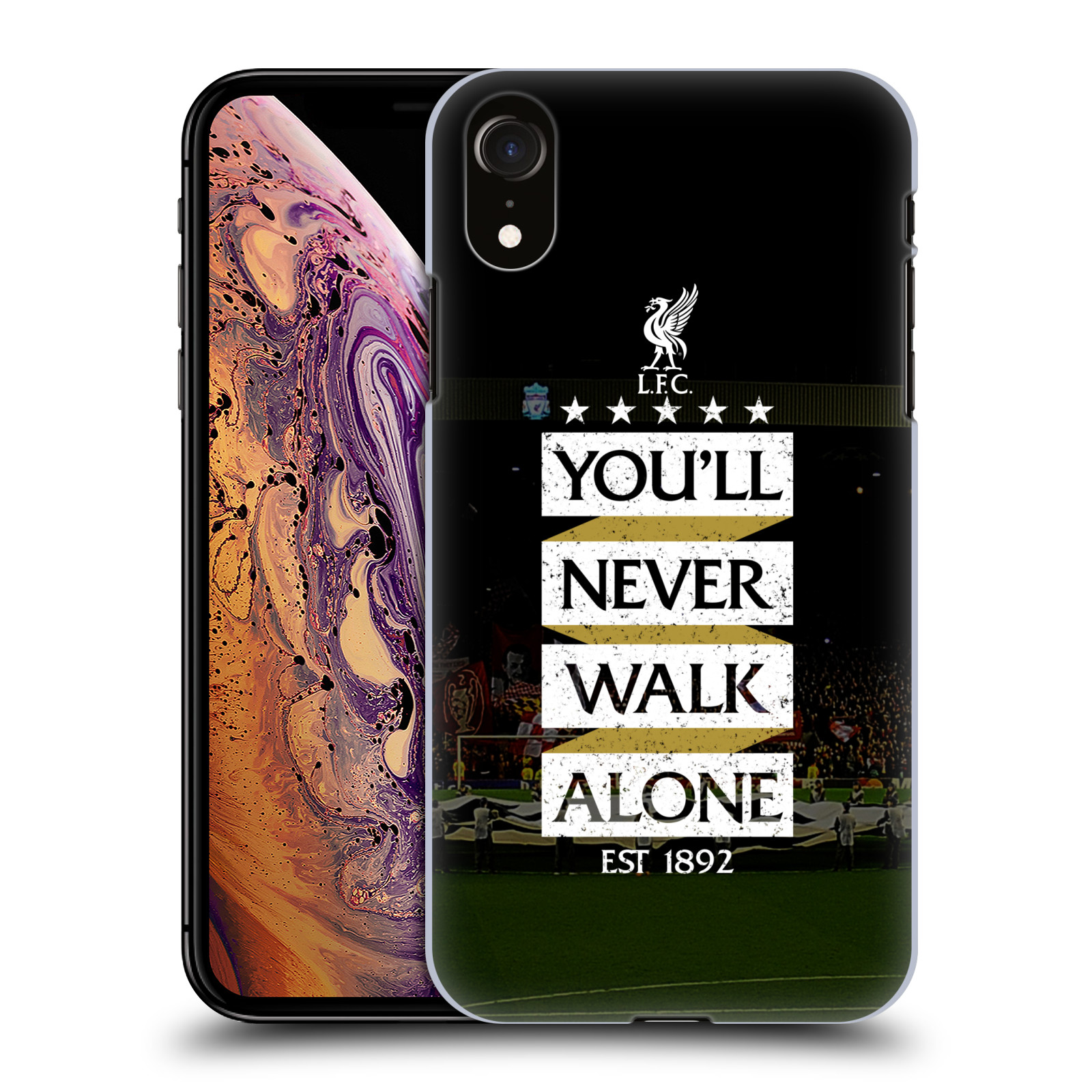 Plastové pouzdro na mobil Apple iPhone XR - Head Case - LFC You'll Never Walk Alone