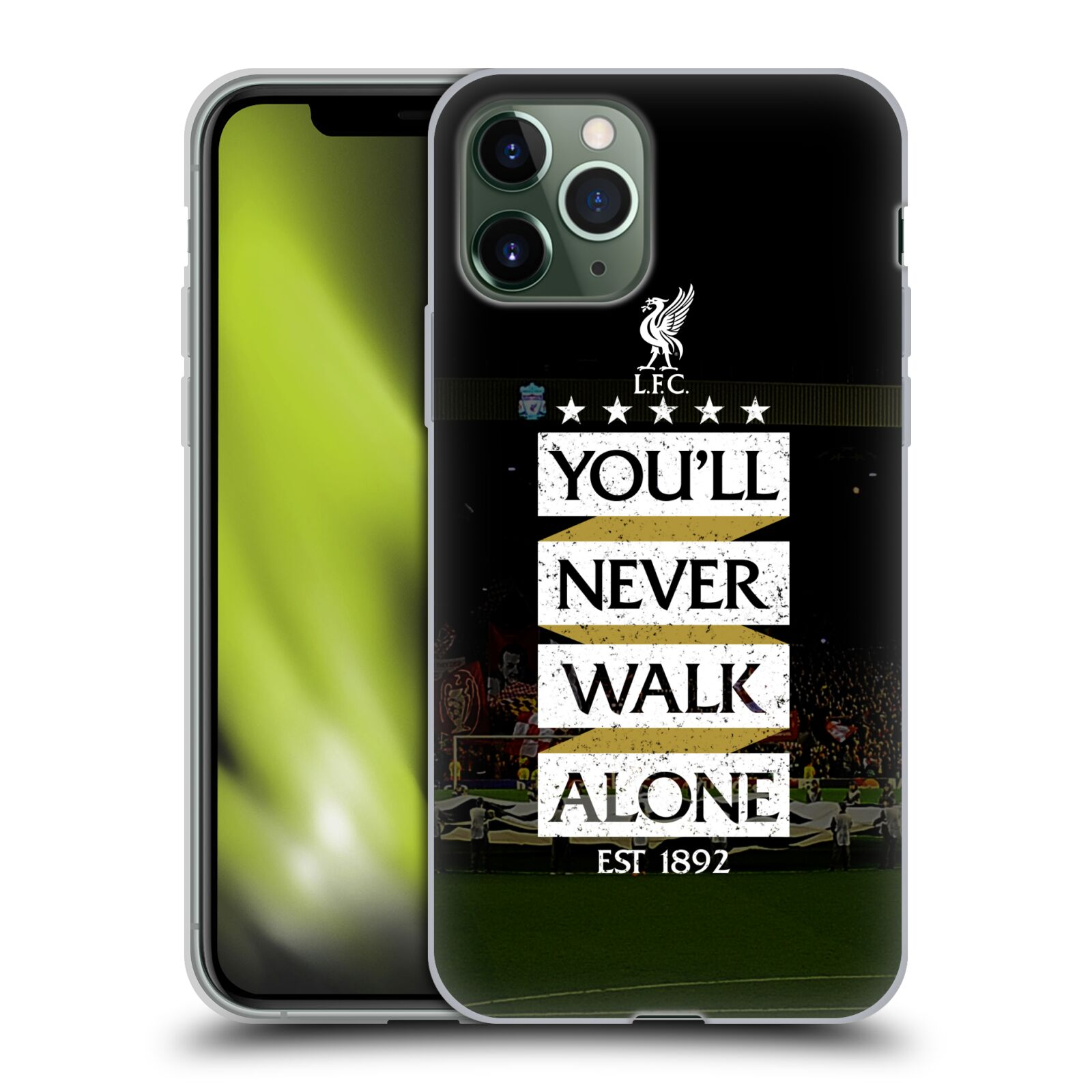 3d kryt na iphone 8 | Silikonové pouzdro na mobil Apple iPhone 11 Pro - Head Case - LFC You'll Never Walk Alone