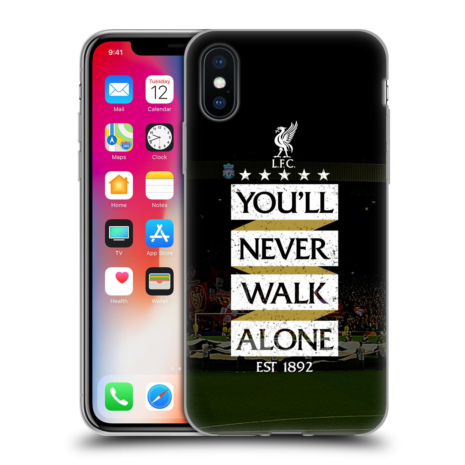 Silikonové pouzdro na mobil Apple iPhone XS - Head Case - LFC You'll Never Walk Alone