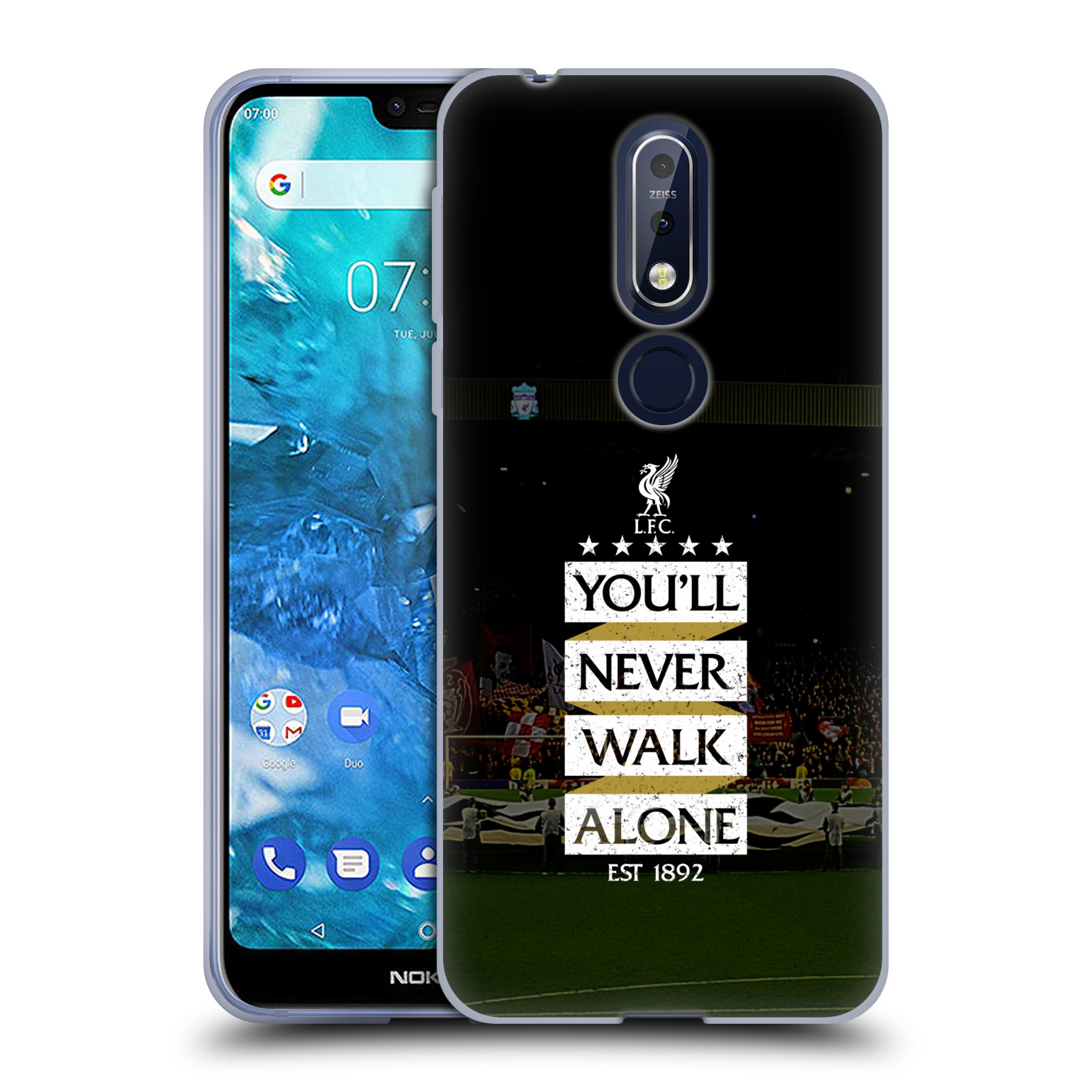 Silikonové pouzdro na mobil Nokia 7.1 - Head Case - LFC You'll Never Walk Alone