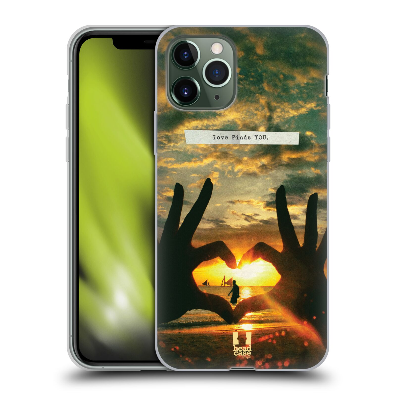 iphone obal černý - Silikonové pouzdro na mobil Apple iPhone 11 Pro - Head Case - LÁSKA SI TĚ NAJDE