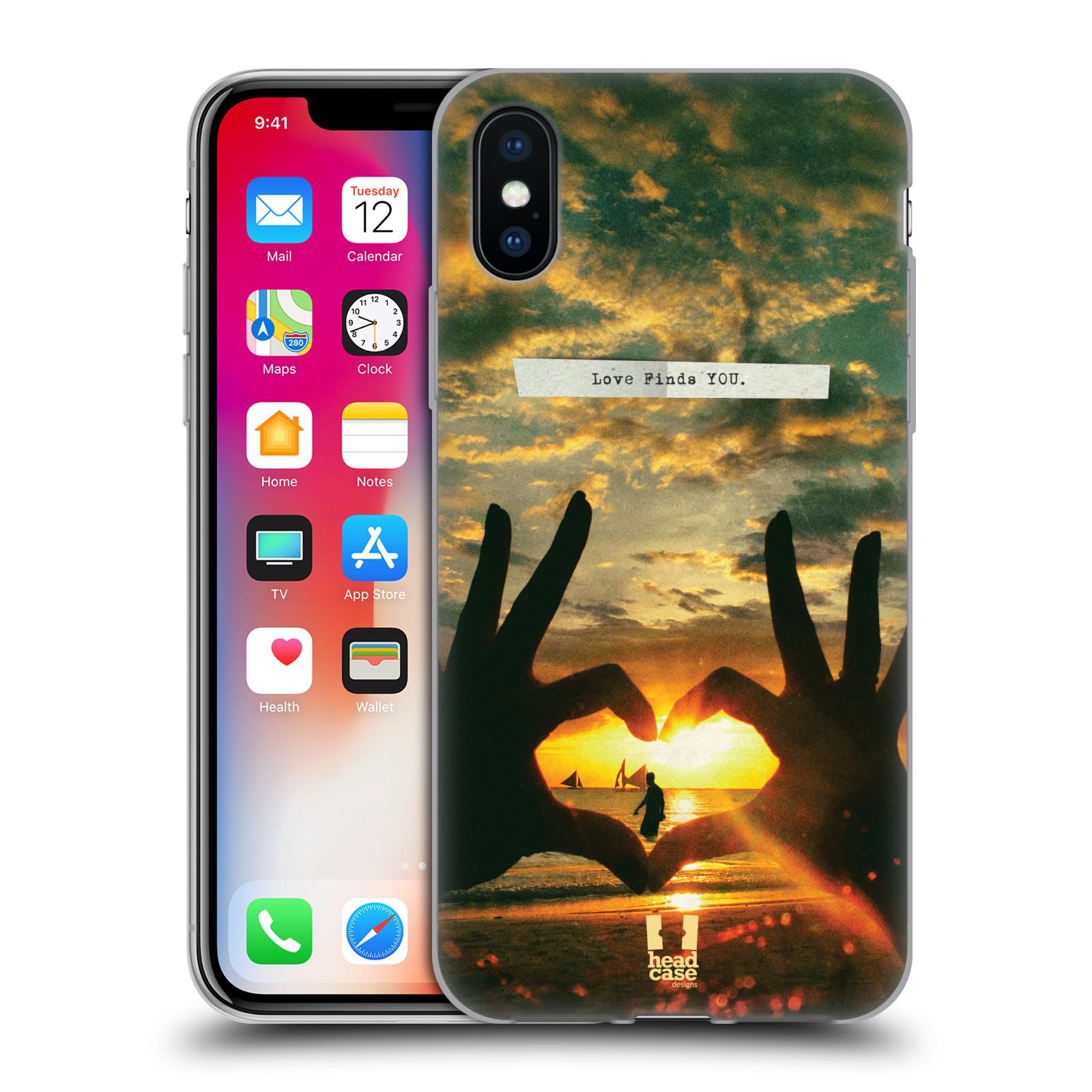 Silikonové pouzdro na mobil Apple iPhone XS - Head Case - LÁSKA SI TĚ NAJDE