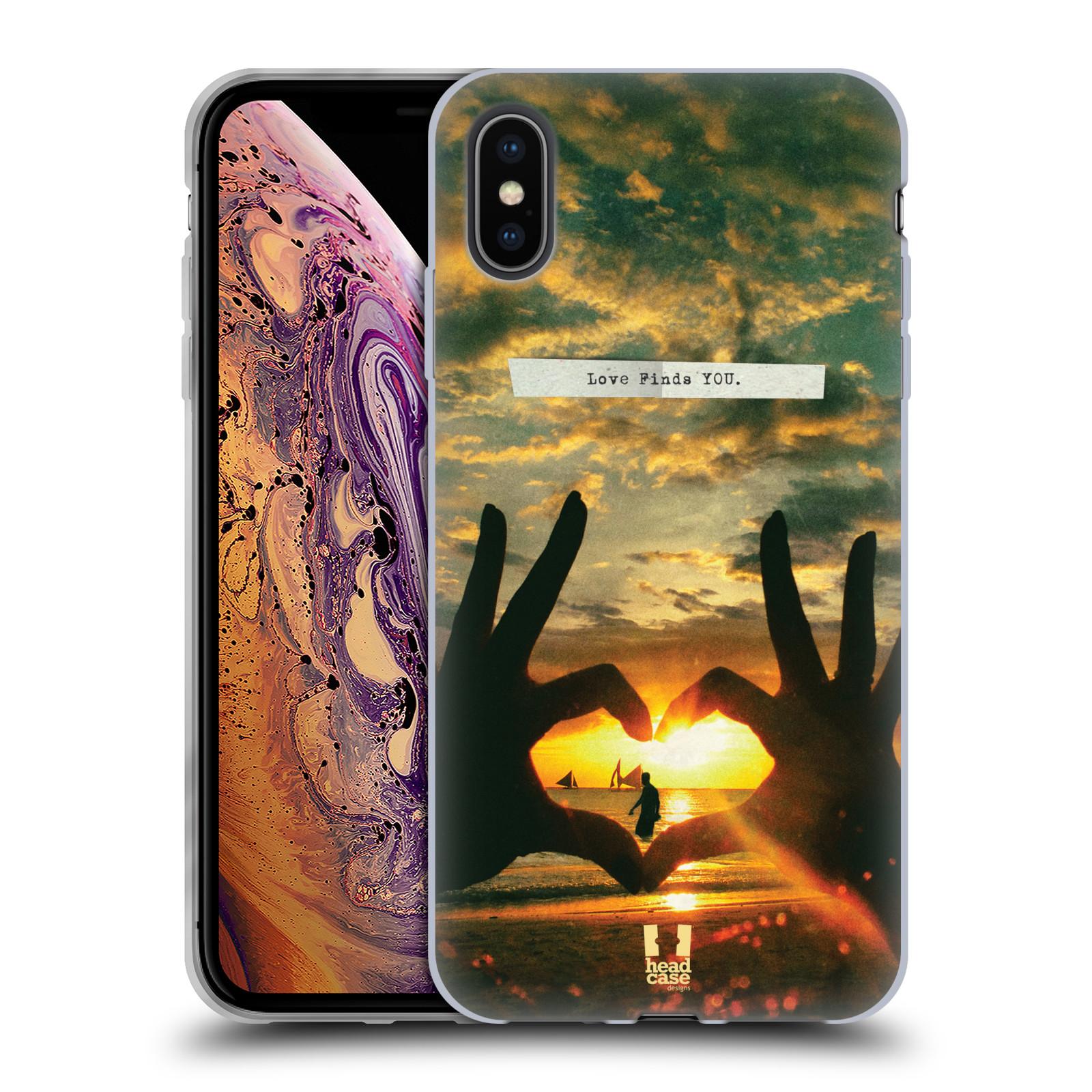 Silikonové pouzdro na mobil Apple iPhone XS Max - Head Case - LÁSKA SI TĚ NAJDE