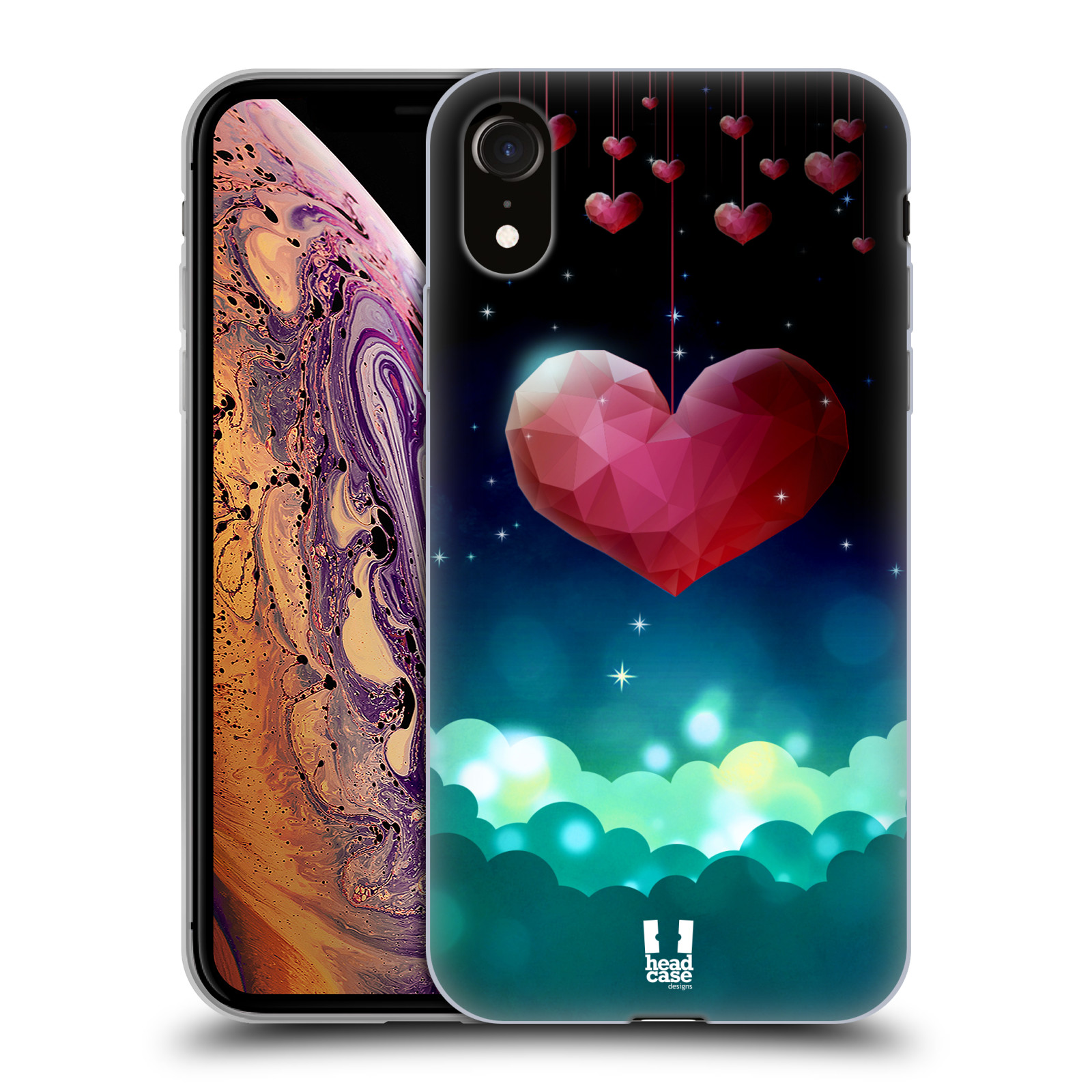 Silikonové pouzdro na mobil Apple iPhone XR - Head Case - LOVE AFFLOAT SRDCE