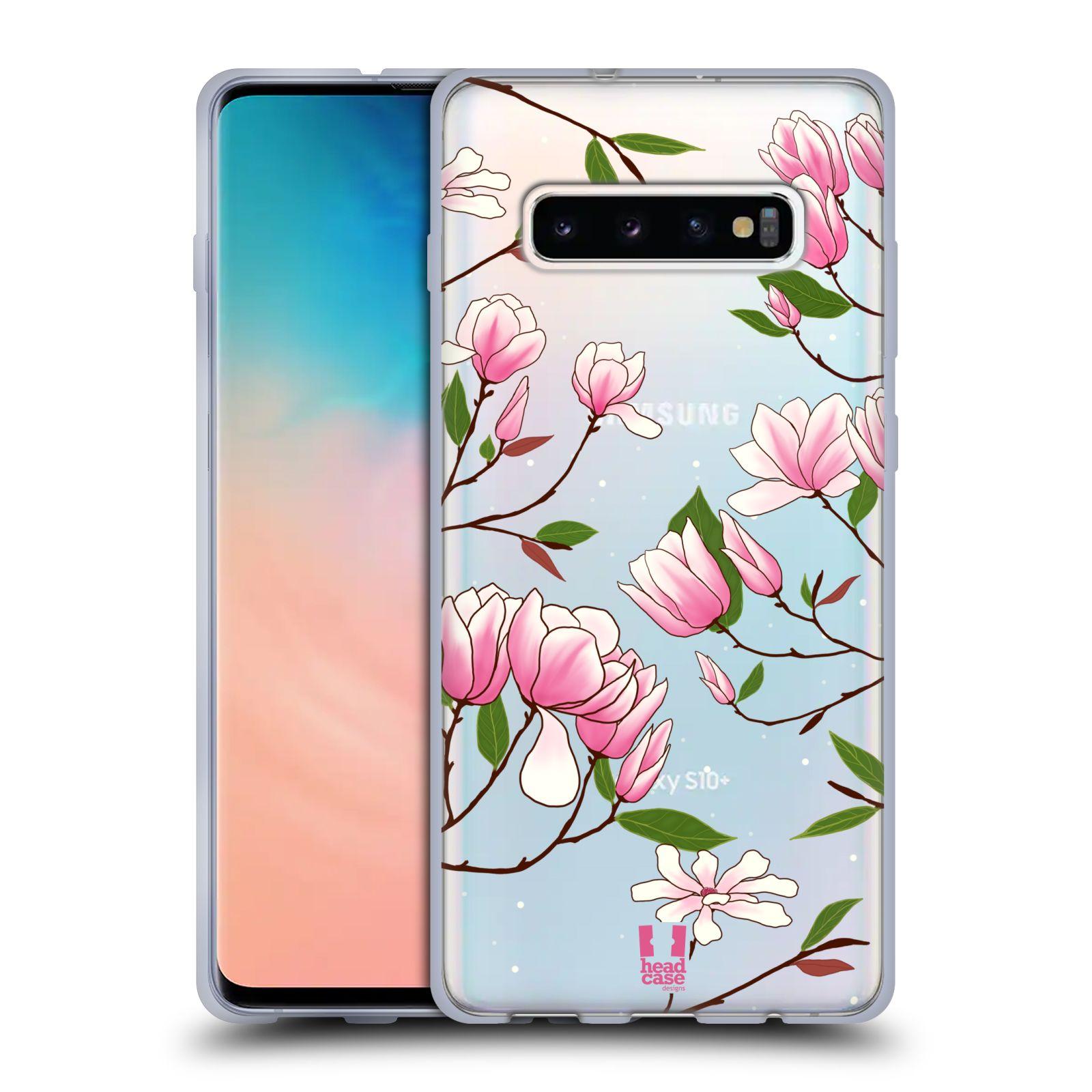 Silikonové pouzdro na mobil Samsung Galaxy S10 Plus - Head Case - Růžovoučké květy