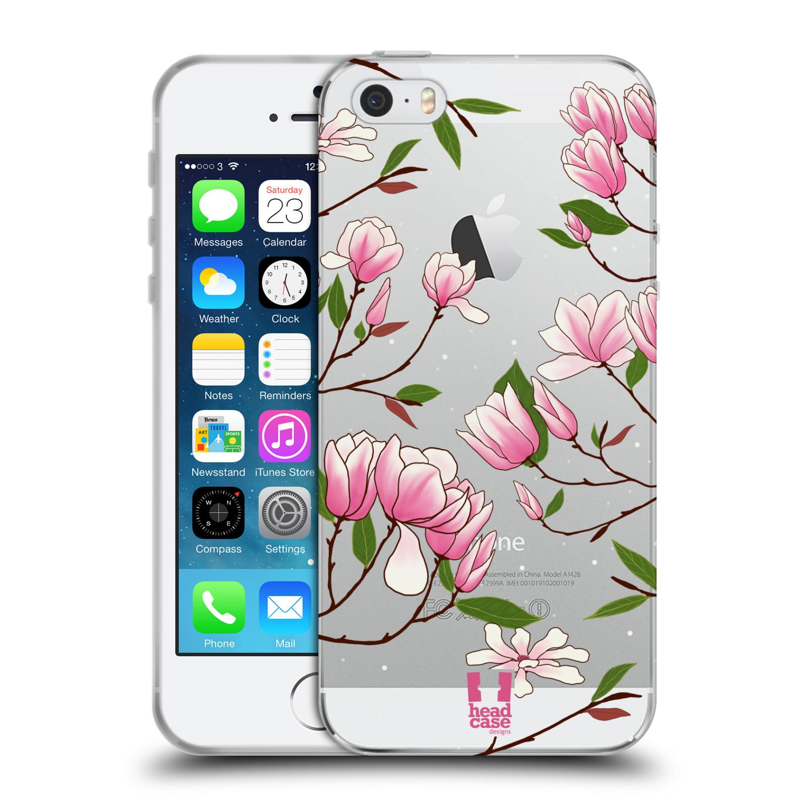 Silikonové pouzdro na mobil Apple iPhone 5, 5S, SE - Head Case - Růžovoučké květy