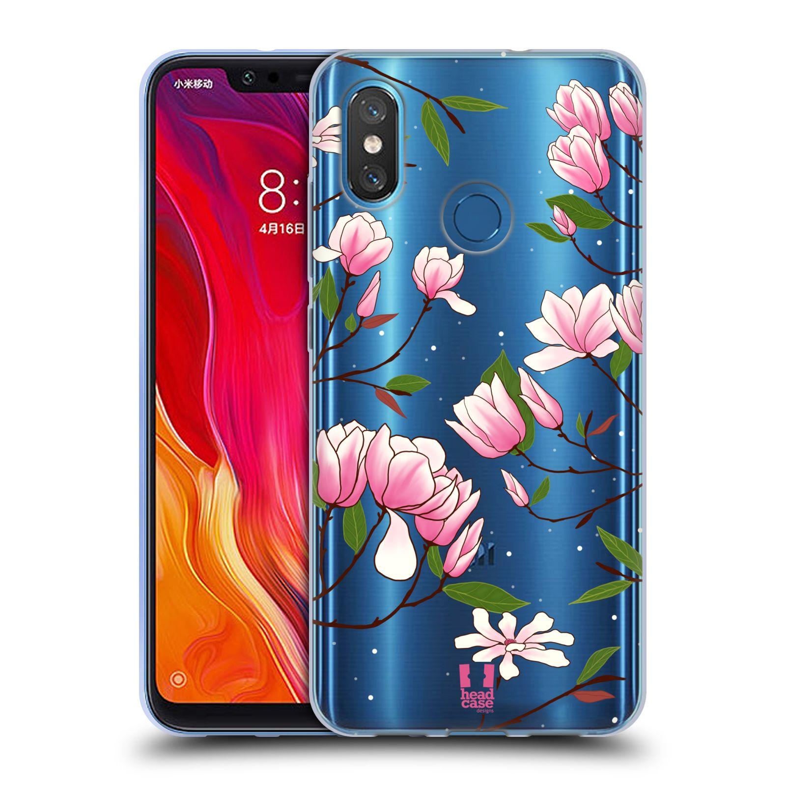 Silikonové pouzdro na mobil Xiaomi Mi8 - Head Case - Růžovoučké květy
