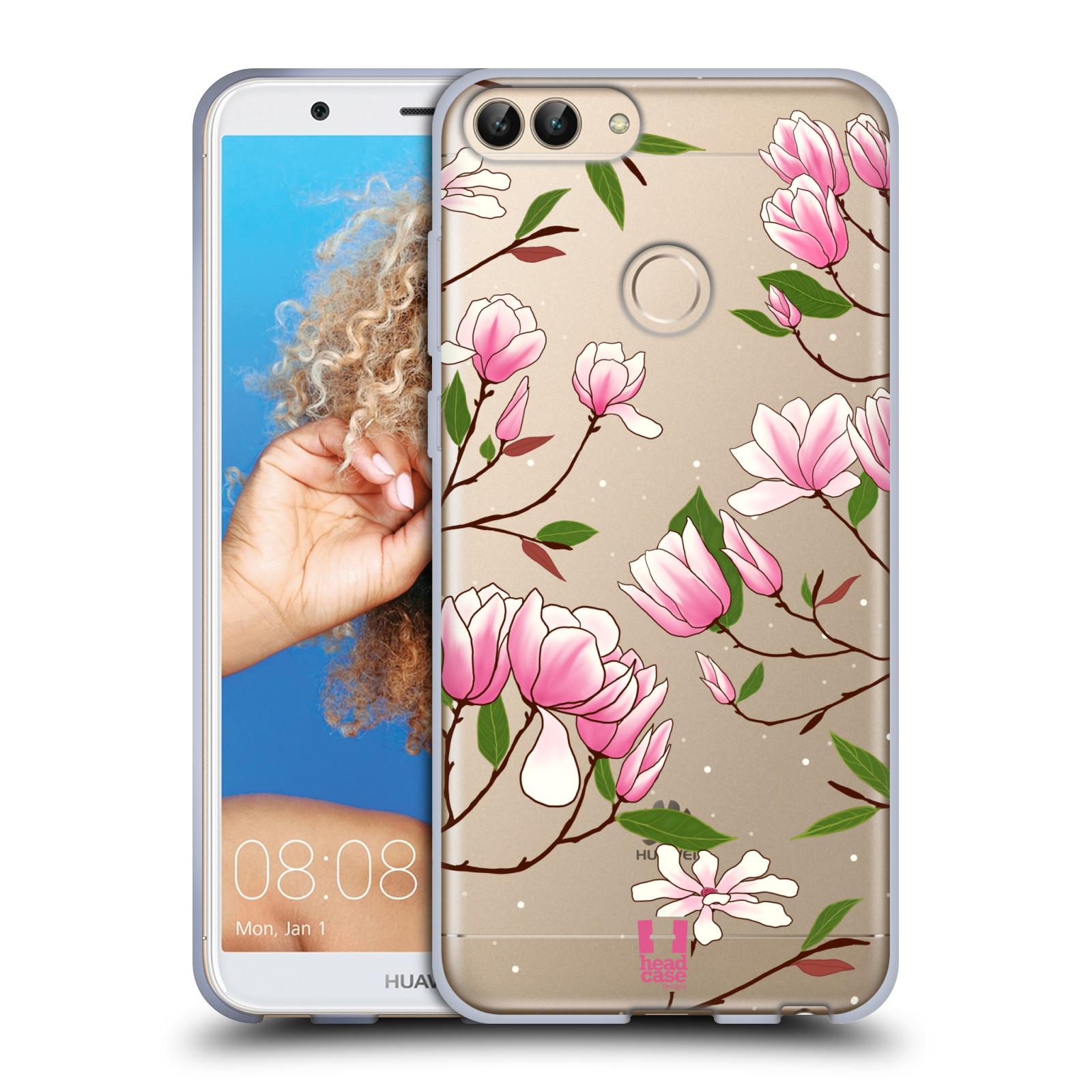 Silikonové pouzdro na mobil Huawei P Smart - Head Case - Růžovoučké květy