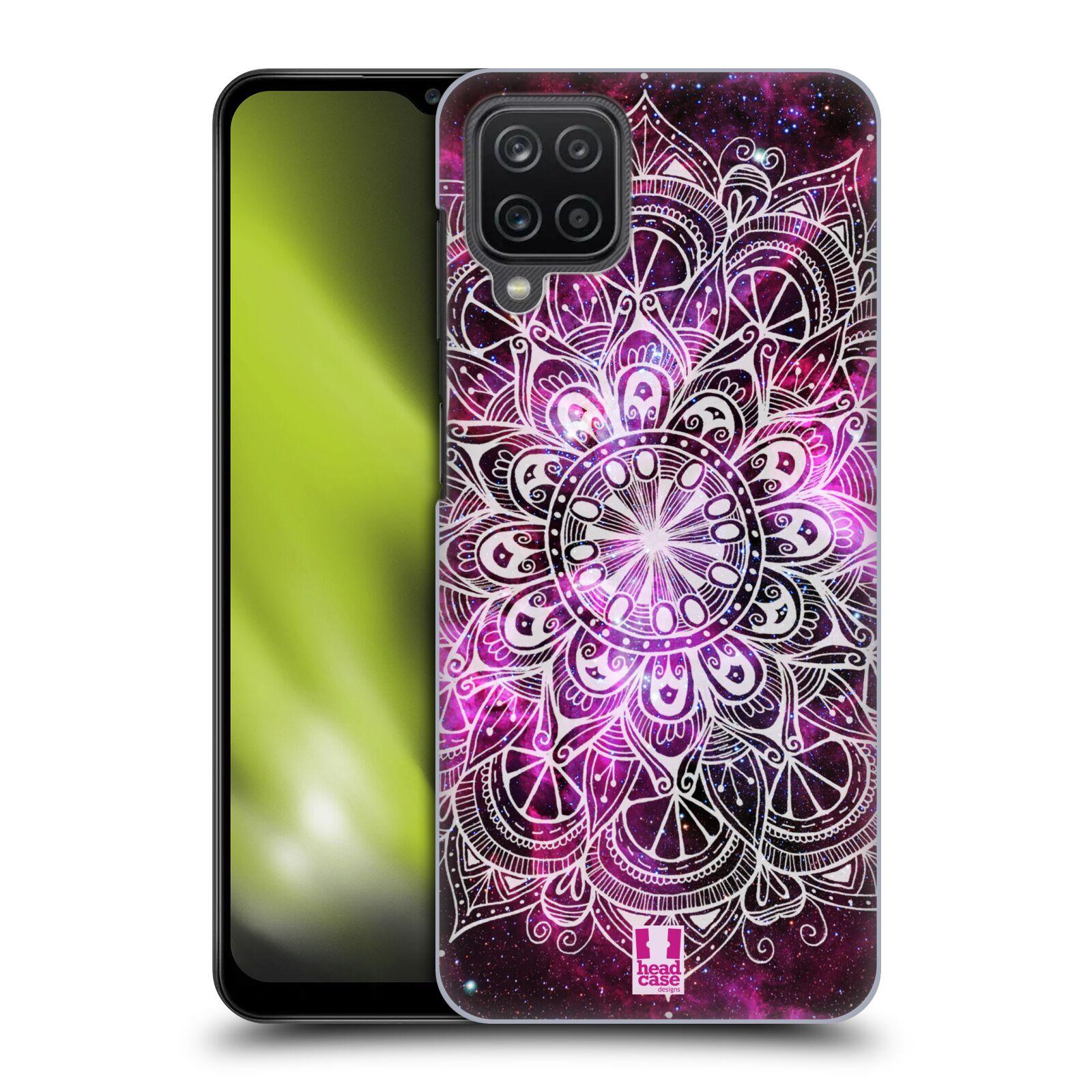 Plastové pouzdro na mobil Samsung Galaxy A12 - Head Case - Mandala Doodle Nebula