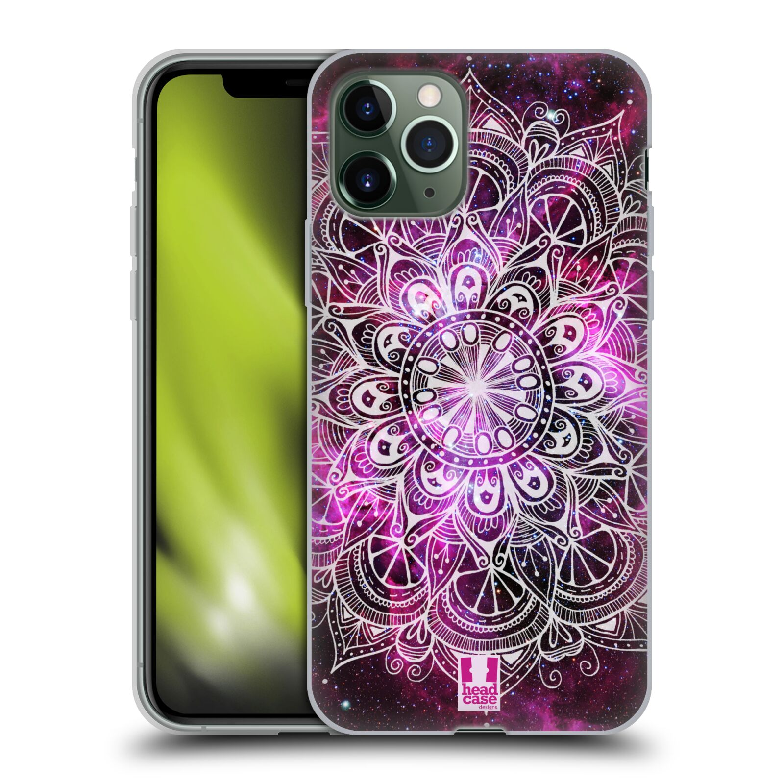 apple iphone 7 plus obal - Silikonové pouzdro na mobil Apple iPhone 11 Pro - Head Case - Mandala Doodle Nebula