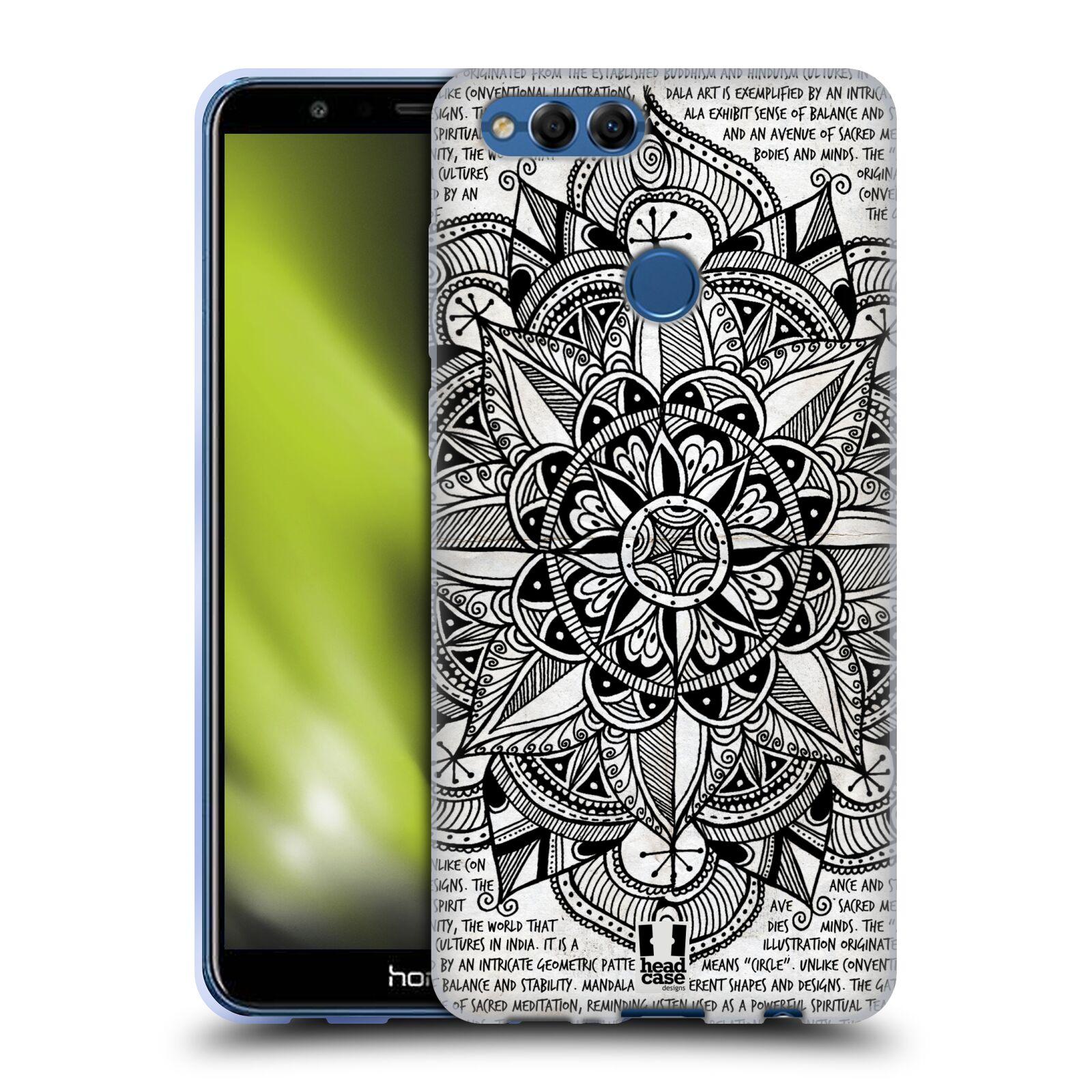 Silikonové pouzdro na mobil Honor 7X - Head Case - Mandala Doodle Paper