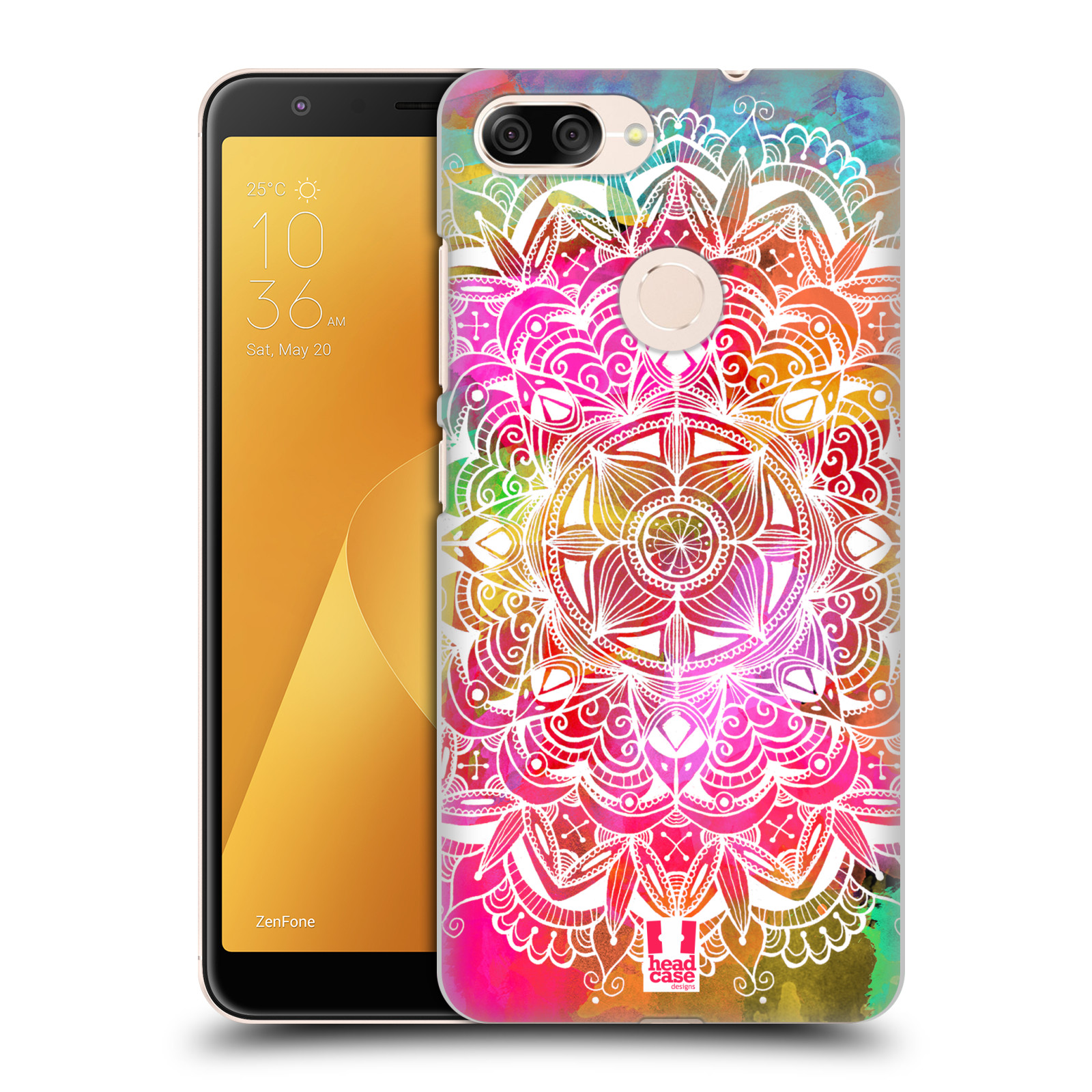 Plastové pouzdro na mobil Asus ZenFone Max Plus (M1) - Head Case - Mandala Doodle Watercolour
