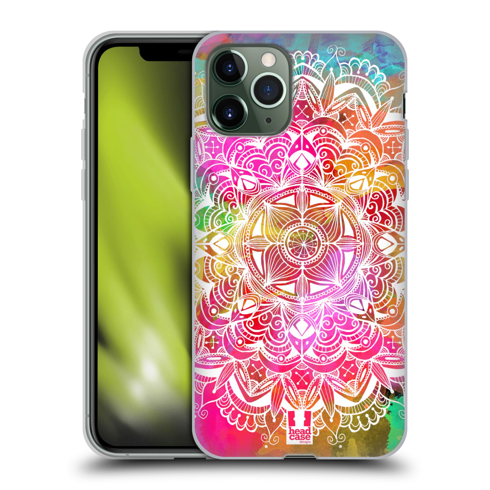 kryt na iphone 6 jack daniels - Silikonové pouzdro na mobil Apple iPhone 11 Pro - Head Case - Mandala Doodle Watercolour