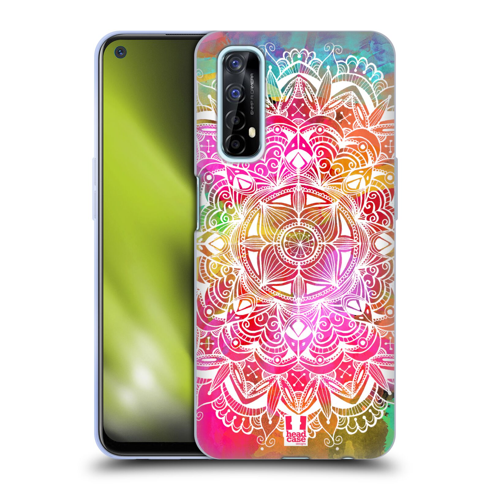 Silikonové pouzdro na mobil Realme 7 - Head Case - Mandala Doodle Watercolour