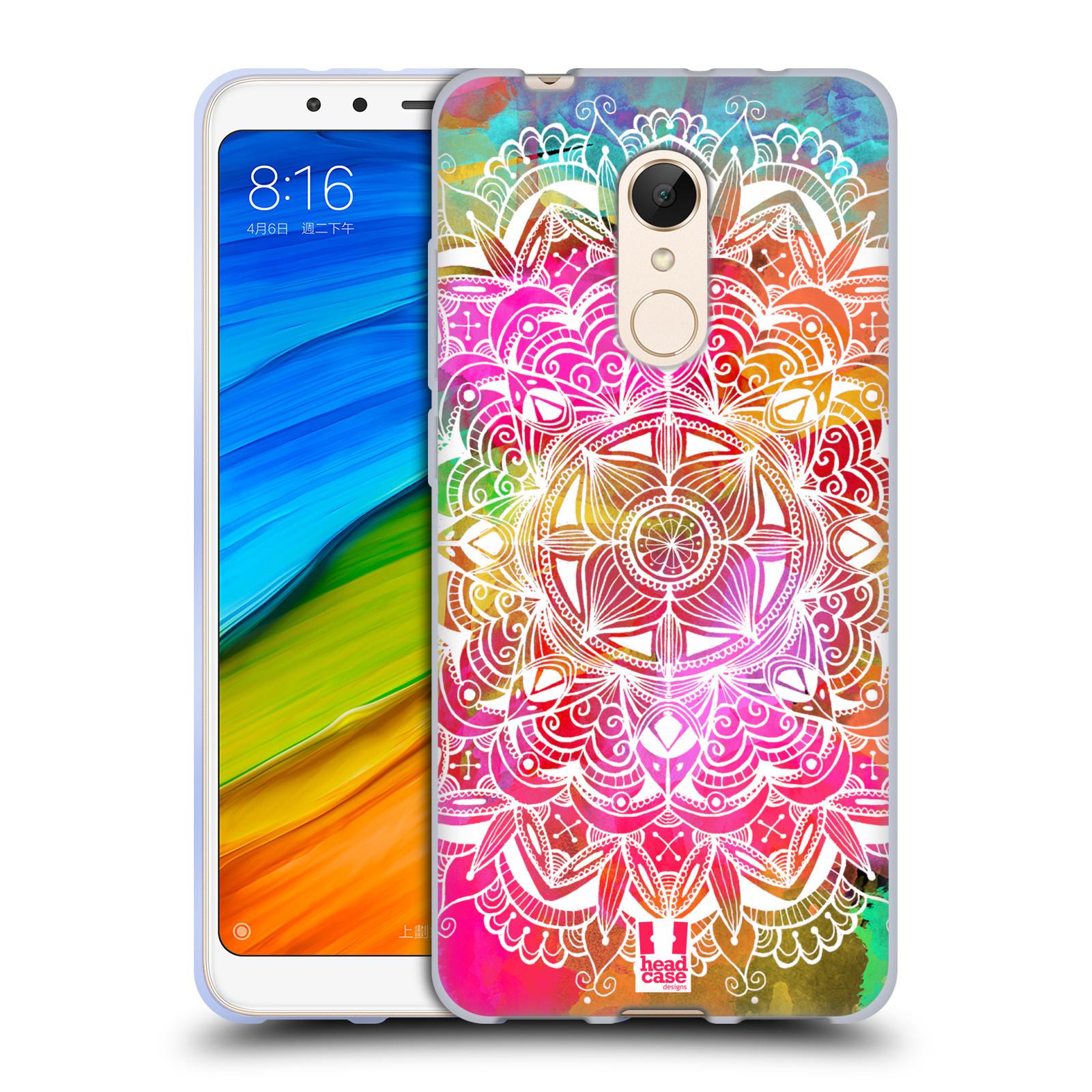 Silikonové pouzdro na mobil Xiaomi Redmi 5 - Head Case - Mandala Doodle Watercolour