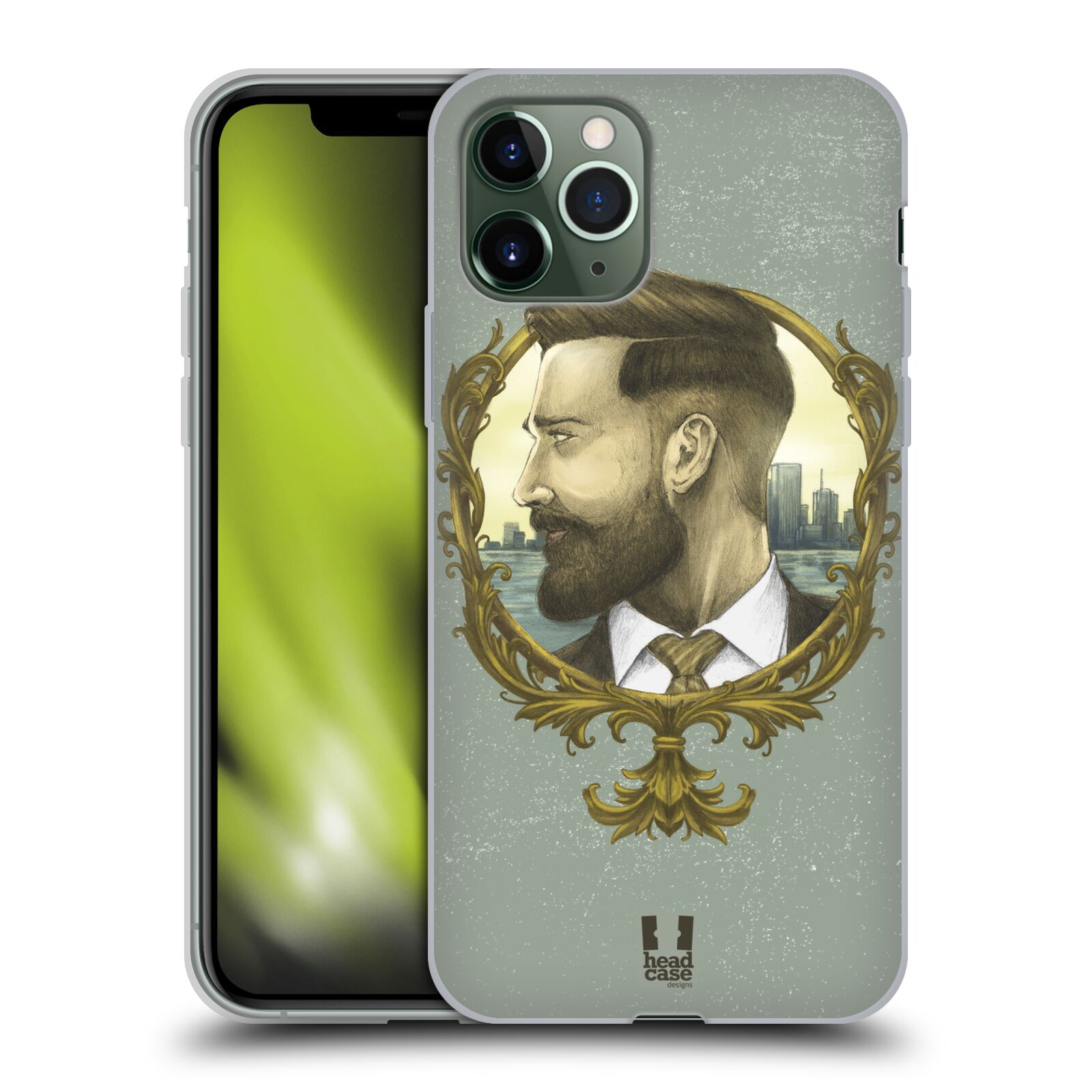 originalni kryt na iphone 8 plus | Silikonové pouzdro na mobil Apple iPhone 11 Pro - Head Case - HIPSTER GENTLEMAN