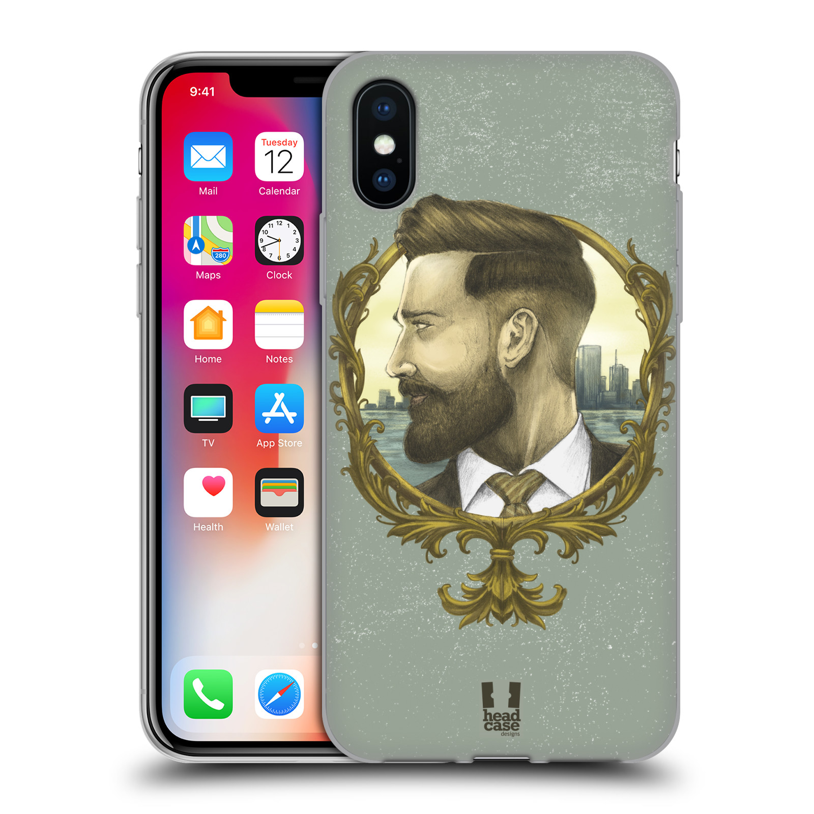 Silikonové pouzdro na mobil Apple iPhone XS - Head Case - HIPSTER GENTLEMAN
