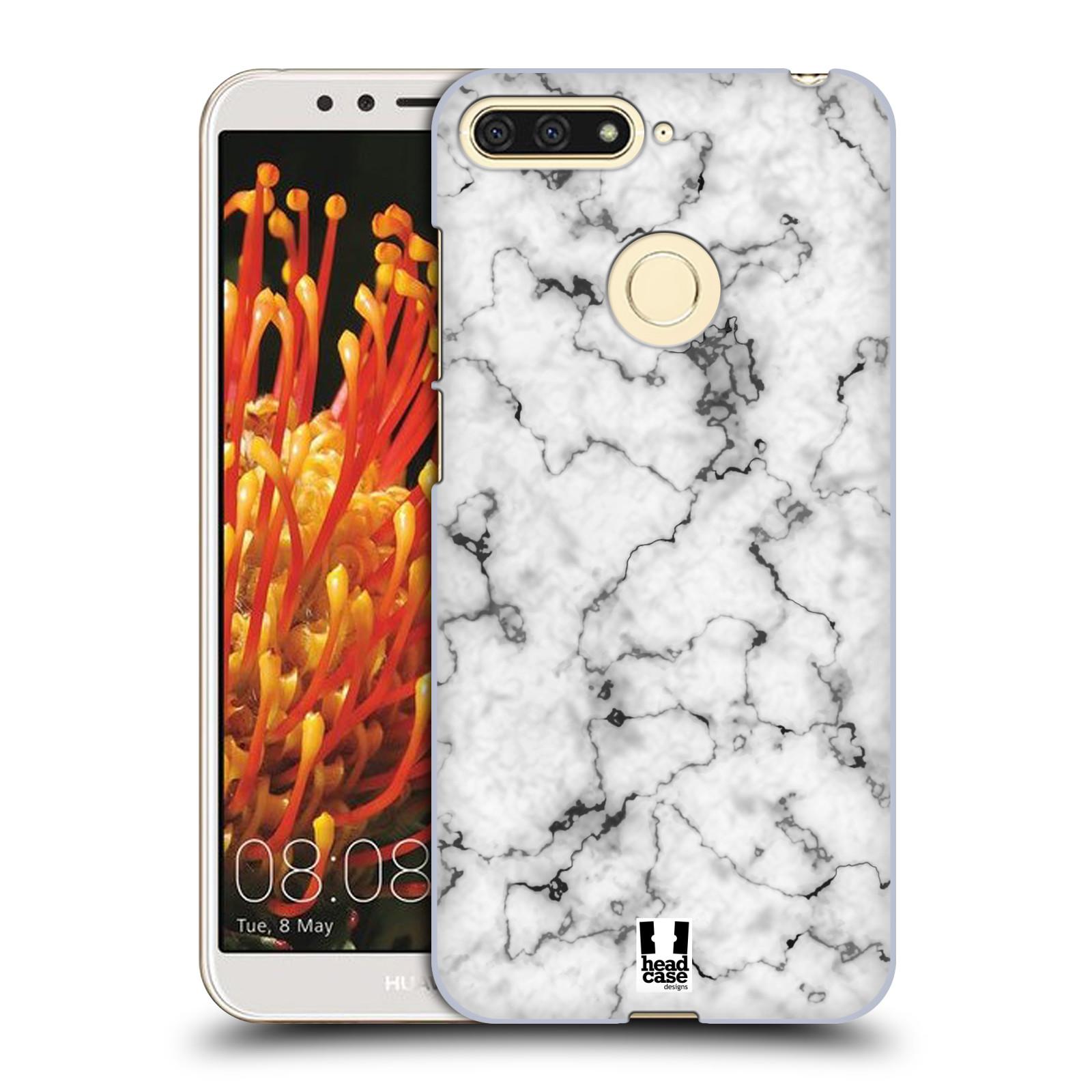 Plastové pouzdro na mobil Huawei Y6 Prime 2018 - Head Case - Bílý mramor