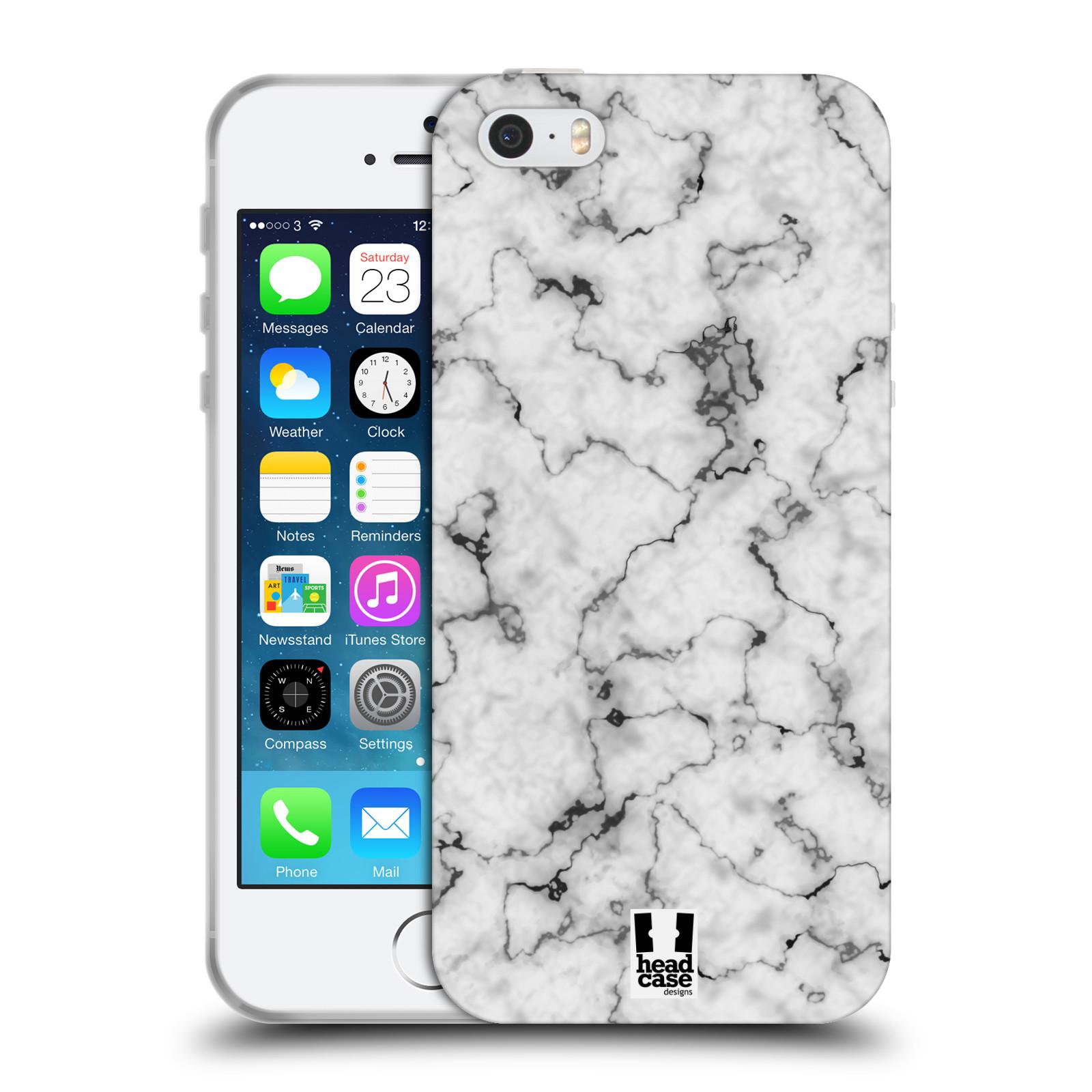 Silikonové pouzdro na mobil Apple iPhone 5, 5S, SE - Head Case - Bílý mramor