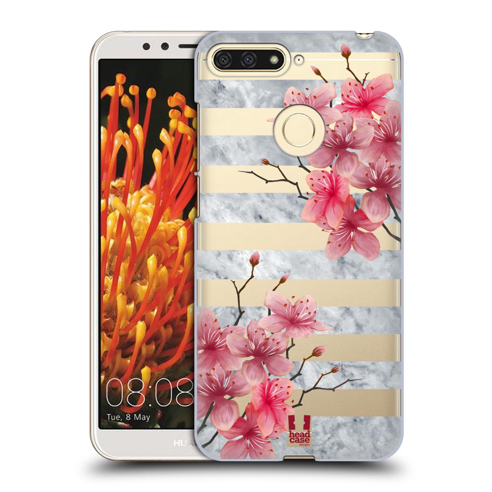 Plastové pouzdro na mobil Huawei Y6 Prime 2018 - Head Case - Kvítka a mramor