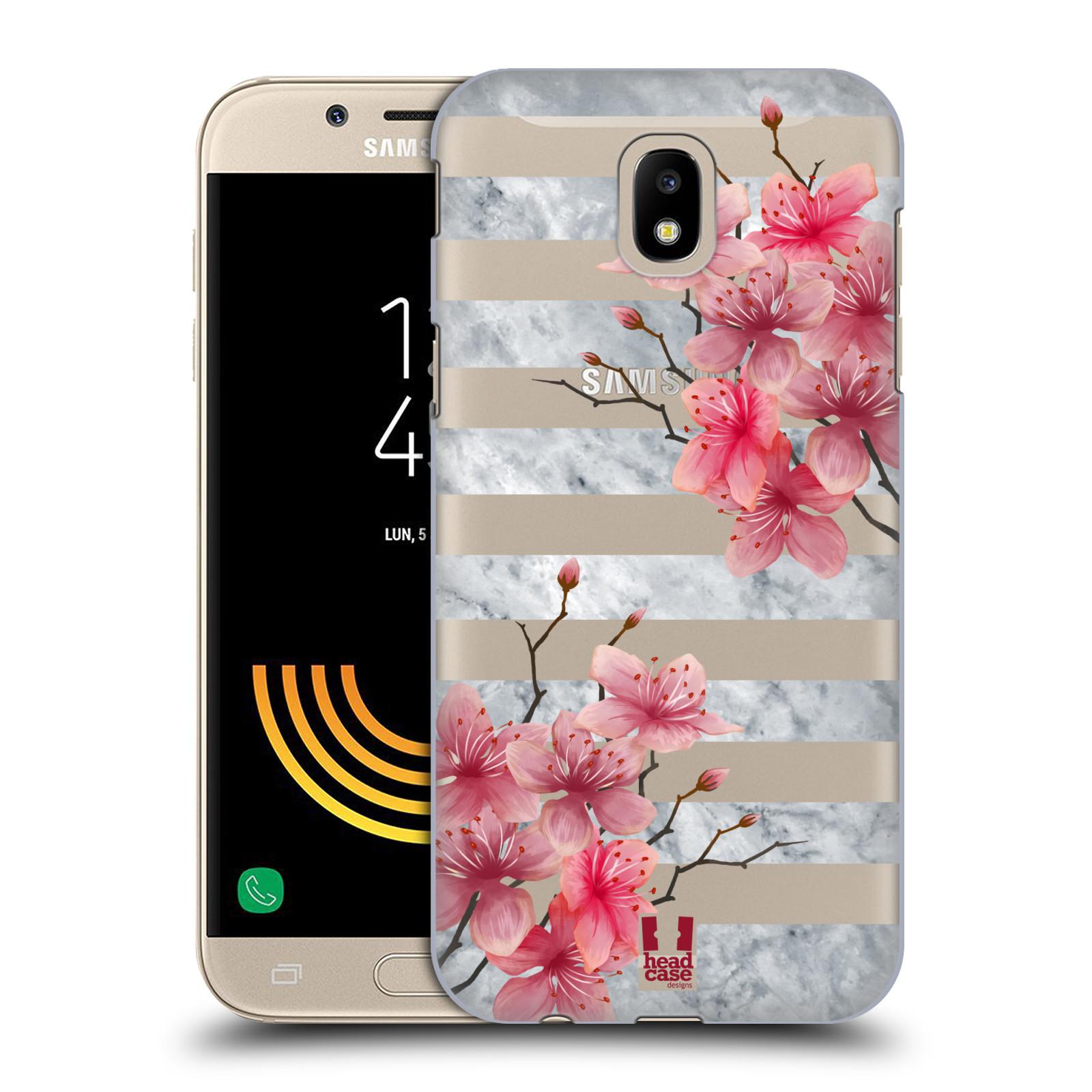 Plastové pouzdro na mobil Samsung Galaxy J5 (2017) - Head Case - Kvítka a mramor