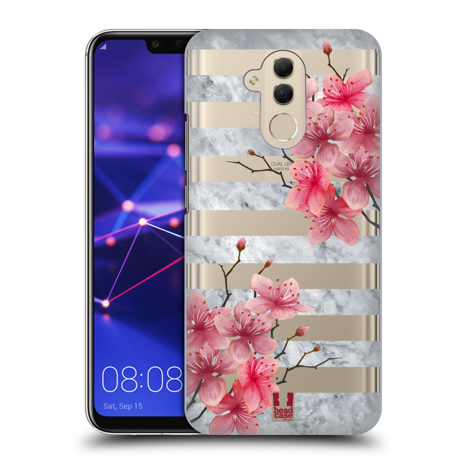 Plastové pouzdro na mobil Huawei Mate 20 Lite - Head Case - Kvítka a mramor